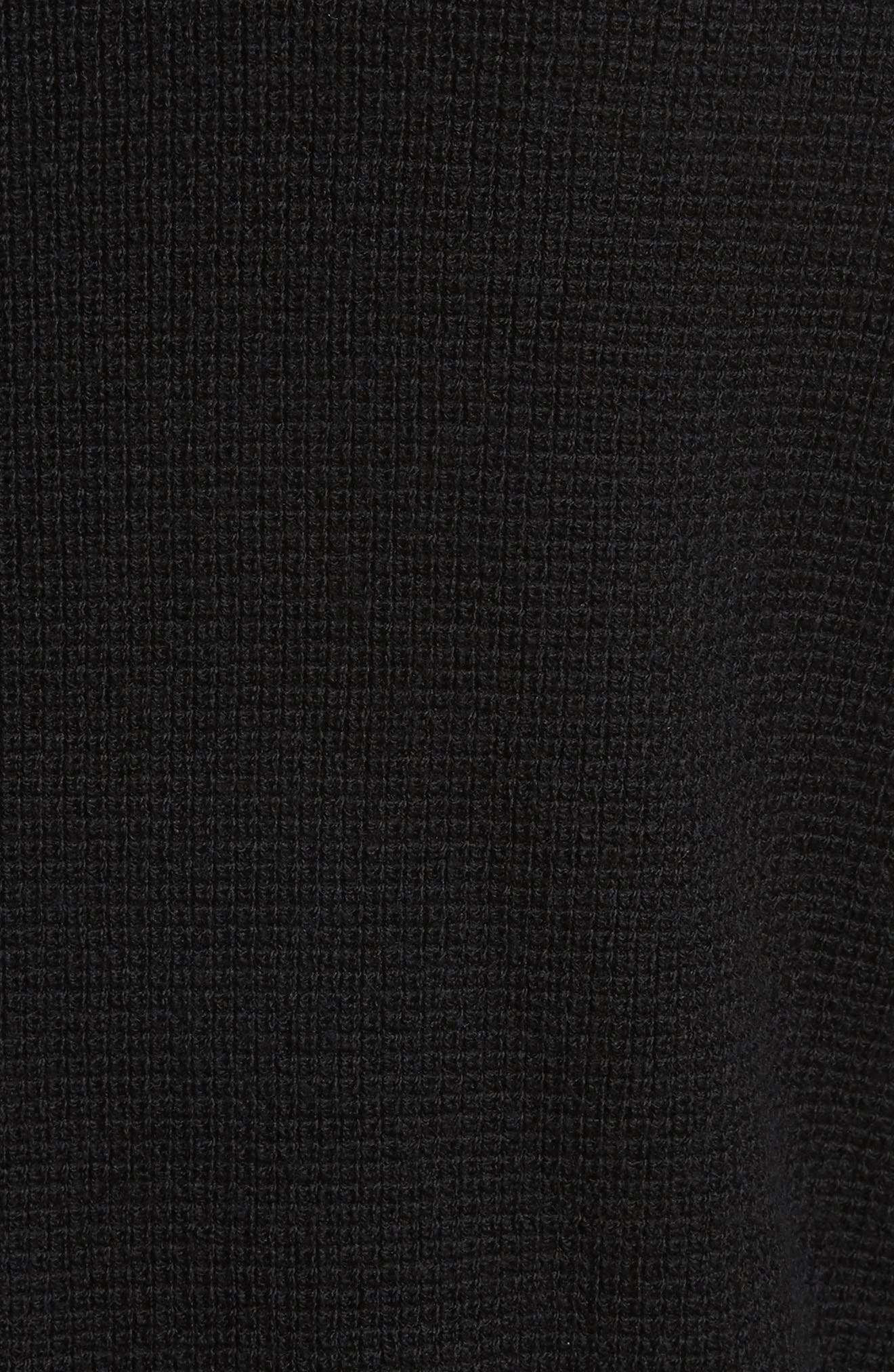 Long Sleeve Wool Henley,                             Alternate thumbnail 5, color,                             BLACK
