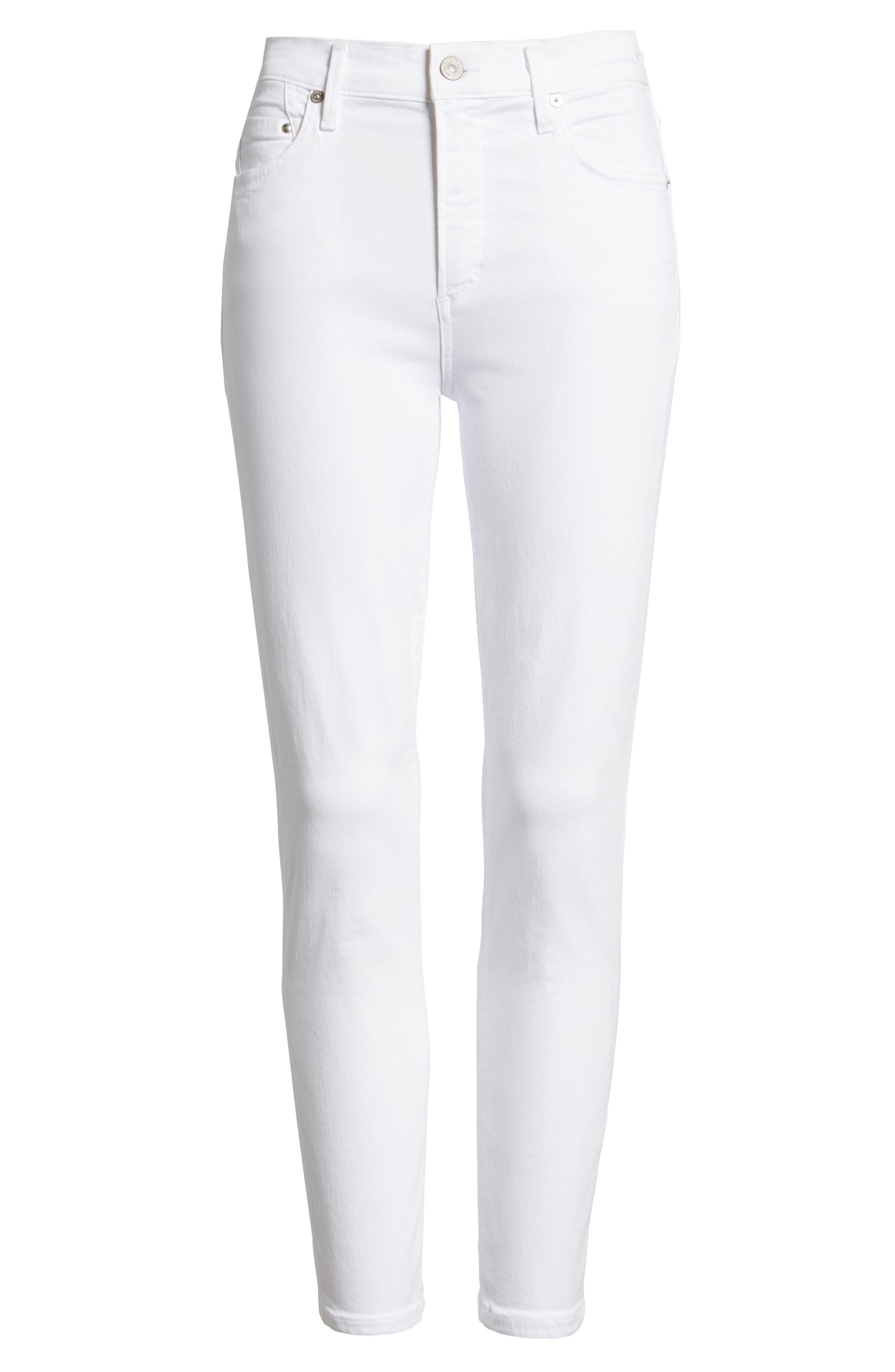 Rocket High Waist Crop Skinny Jeans,                             Alternate thumbnail 2, color,                             SCULPT WHITE