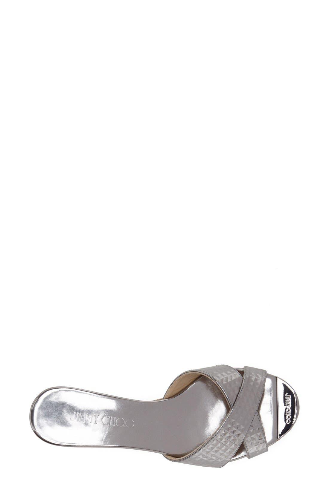 'Panna' Cork Wedge Slide Sandal,                             Alternate thumbnail 3, color,                             040