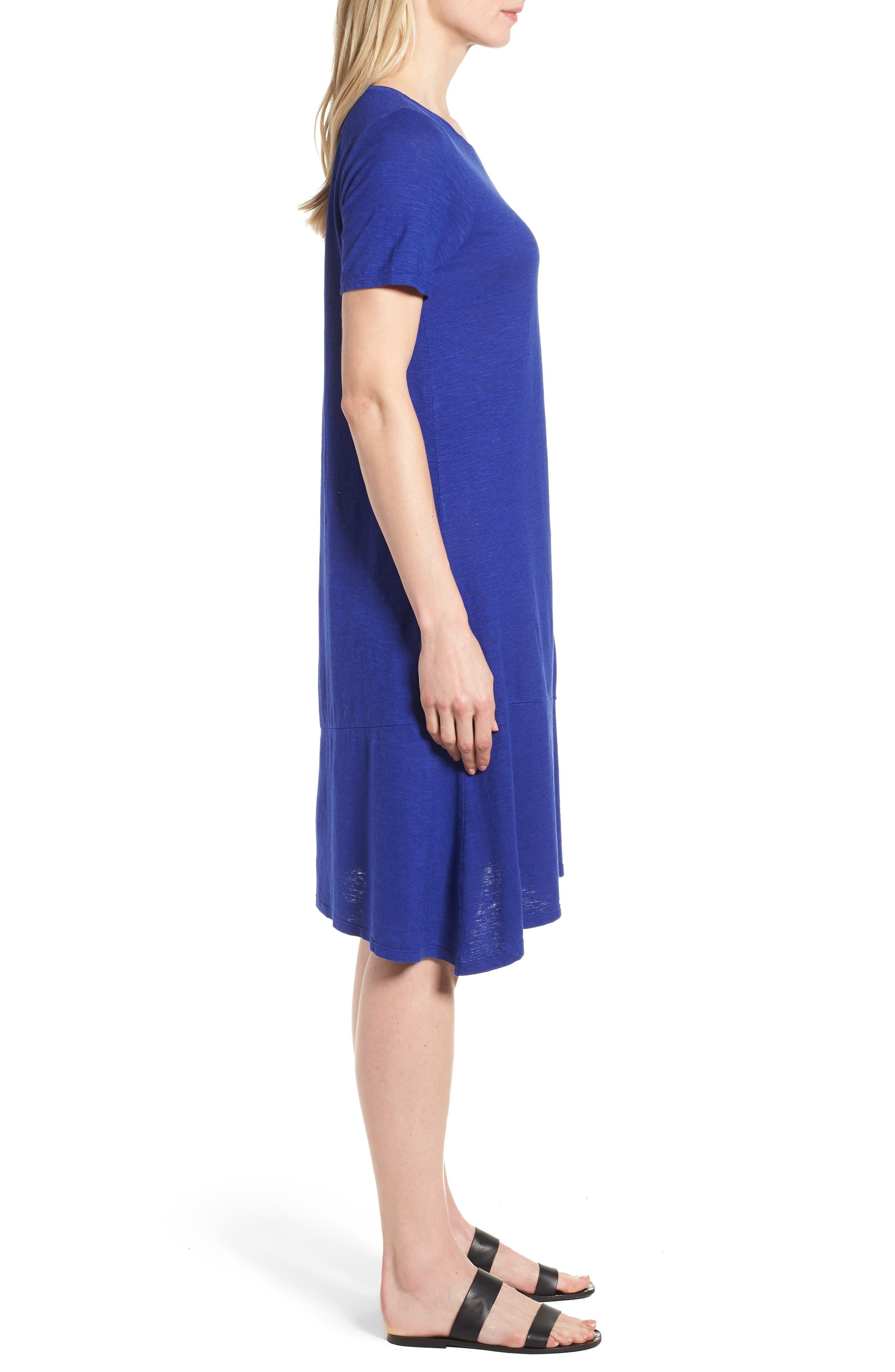 Asymmetrical Hemp Blend Shift Dress,                             Alternate thumbnail 9, color,