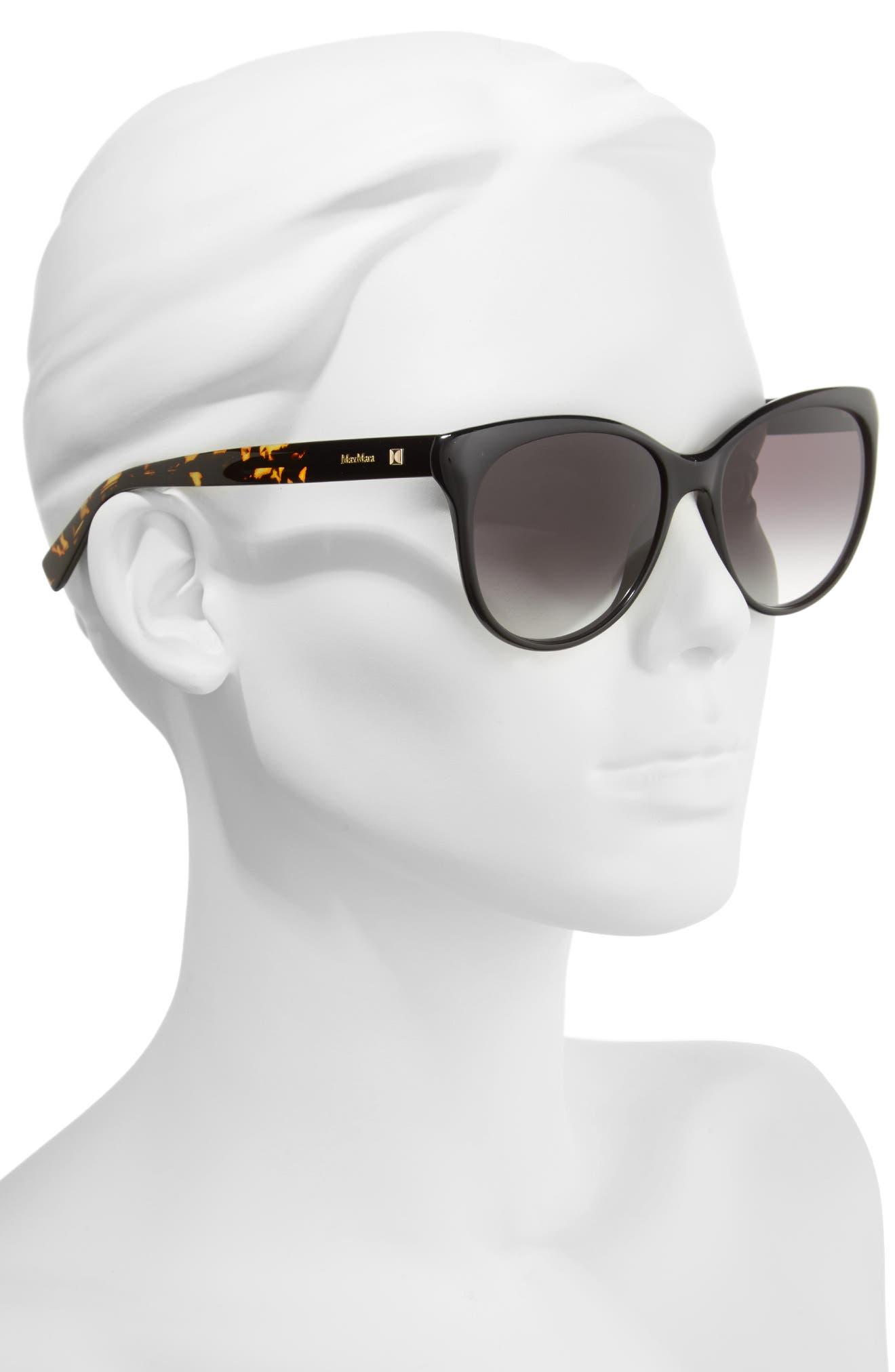 Cosy 56mm Gradient Cat Eye Sunglasses,                             Alternate thumbnail 2, color,                             001