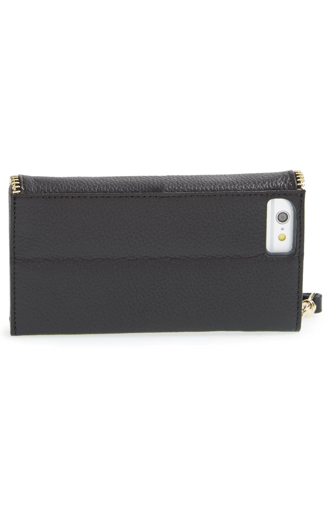 REBECCA MINKOFF,                             iPhone 6 & 6s Folio Wristlet,                             Alternate thumbnail 4, color,                             001