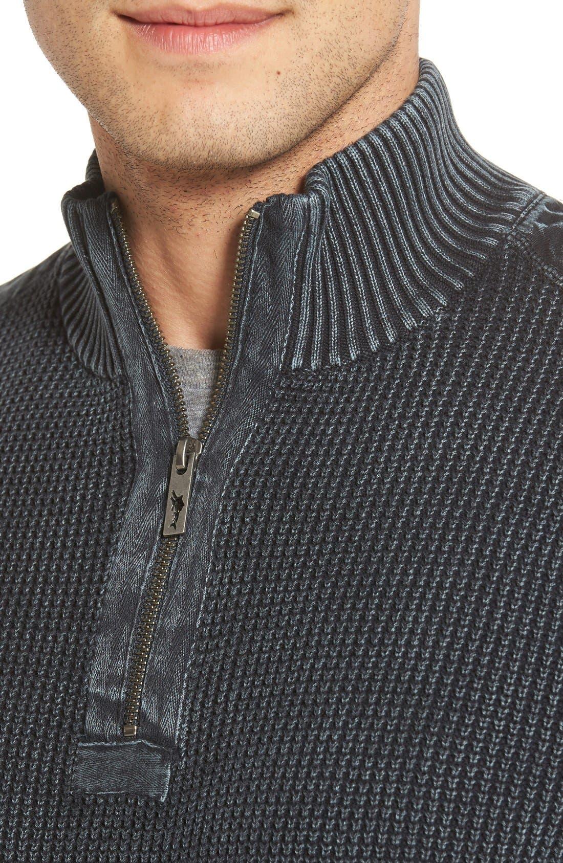 'Coastal Shores' Quarter Zip Sweater,                             Alternate thumbnail 30, color,