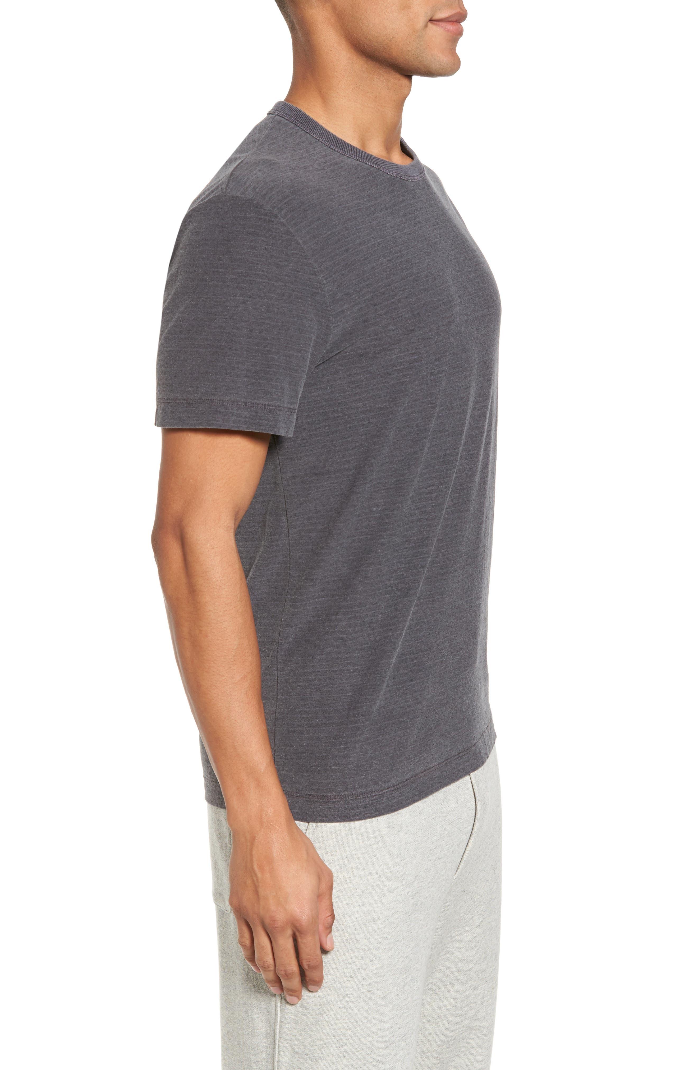 Microstripe Ringer T-Shirt,                             Alternate thumbnail 3, color,                             020