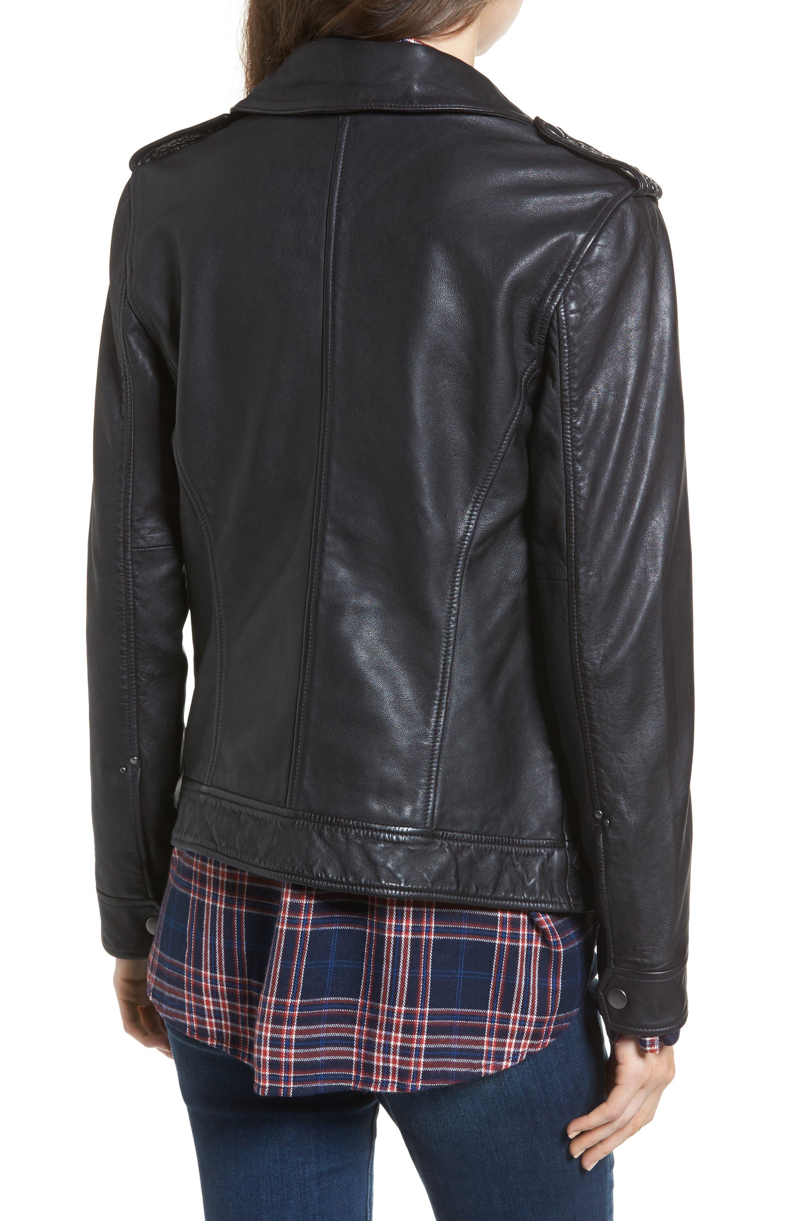 Studded Leather Jacket,                             Alternate thumbnail 2, color,