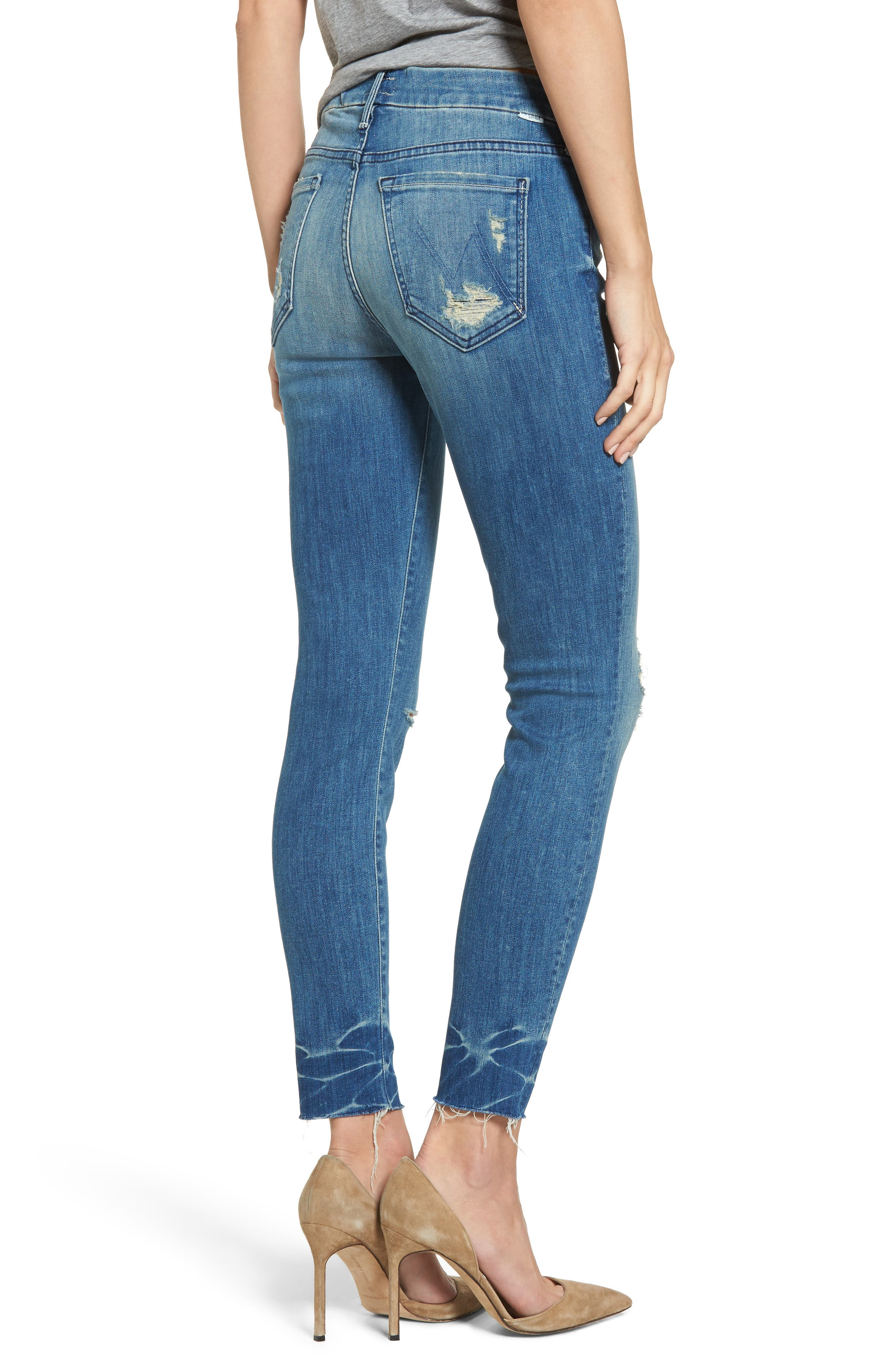 The Looker Frayed Ankle Skinny Jeans,                             Alternate thumbnail 2, color,                             414