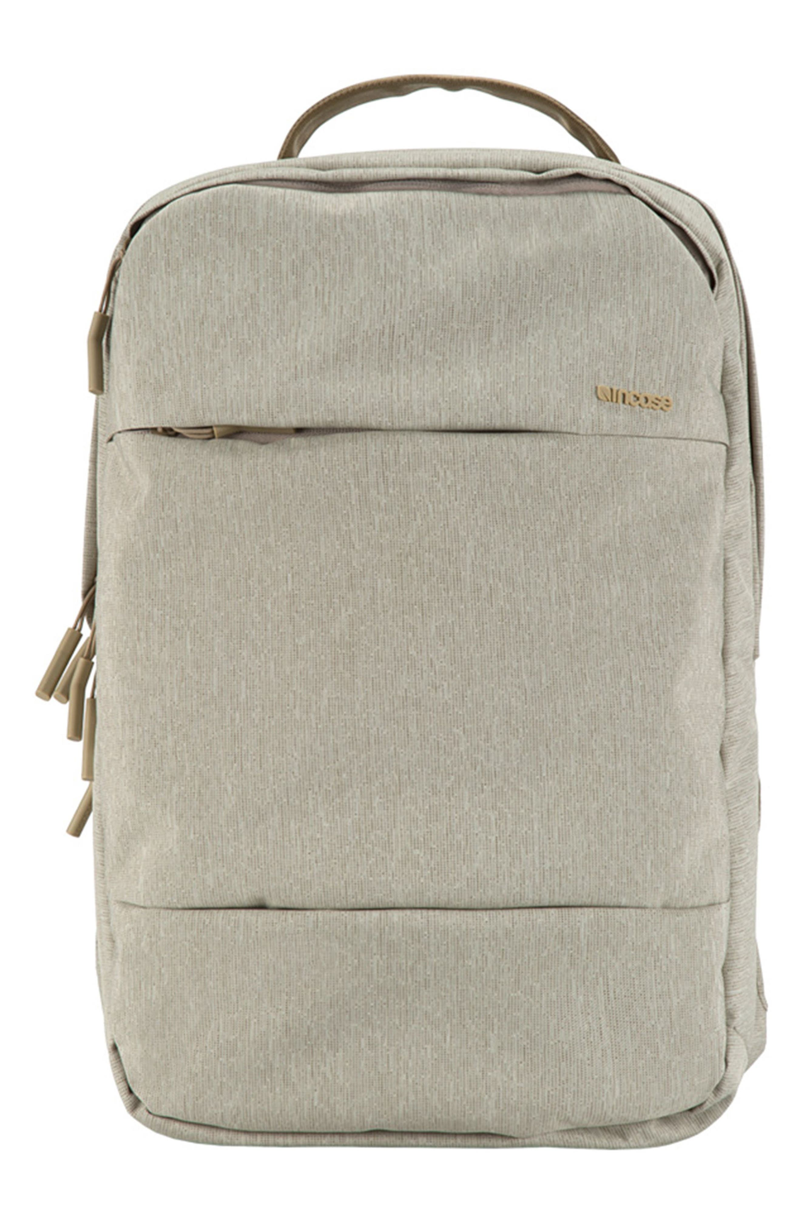 City Backpack,                         Main,                         color, HEATHER KHAKI