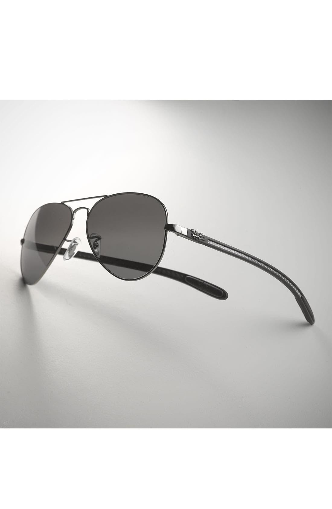 'Tech' Polarized 58mm Aviator Sunglasses,                             Alternate thumbnail 2, color,                             001