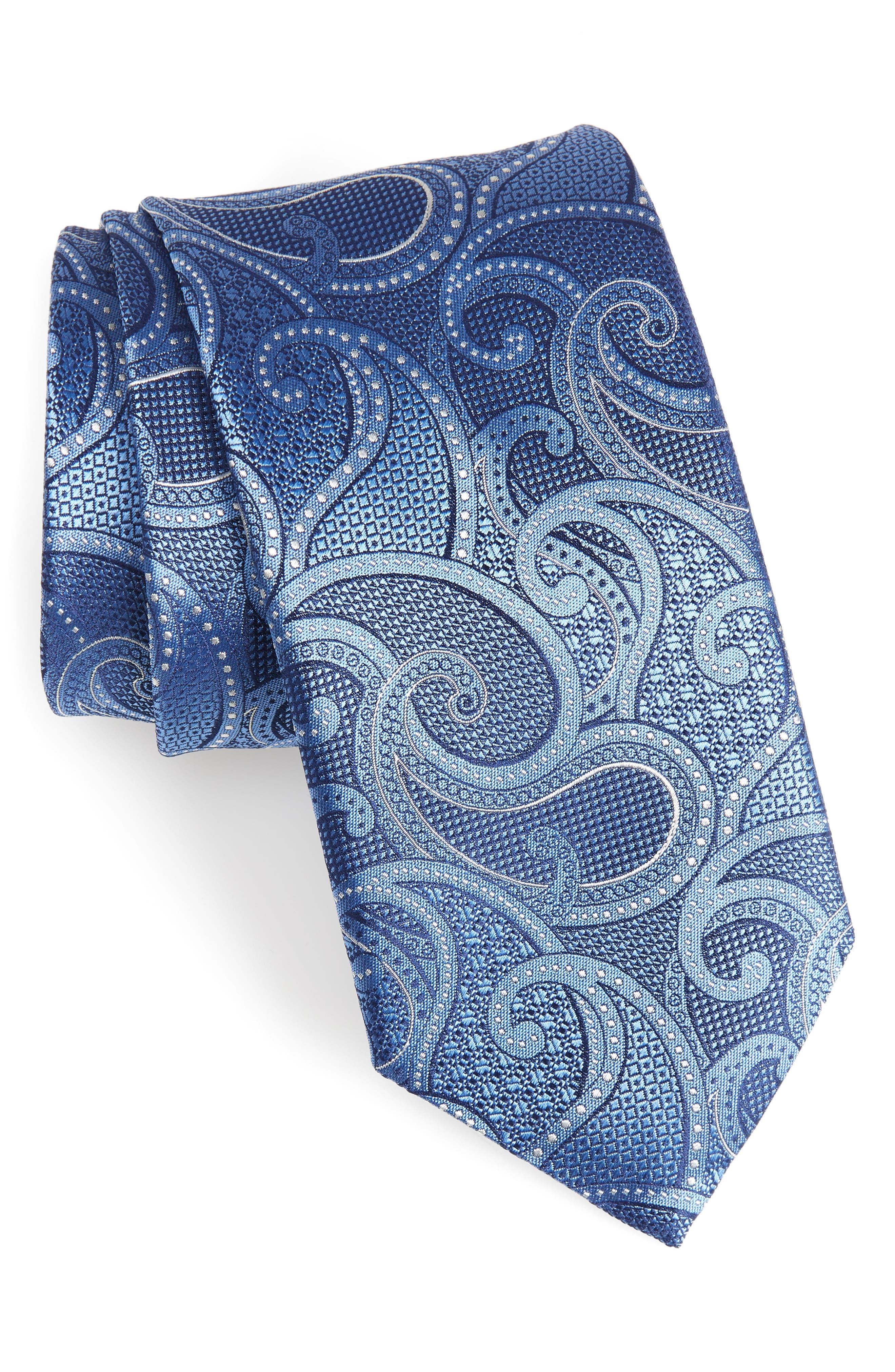 Paisley Silk Tie,                         Main,                         color, 400