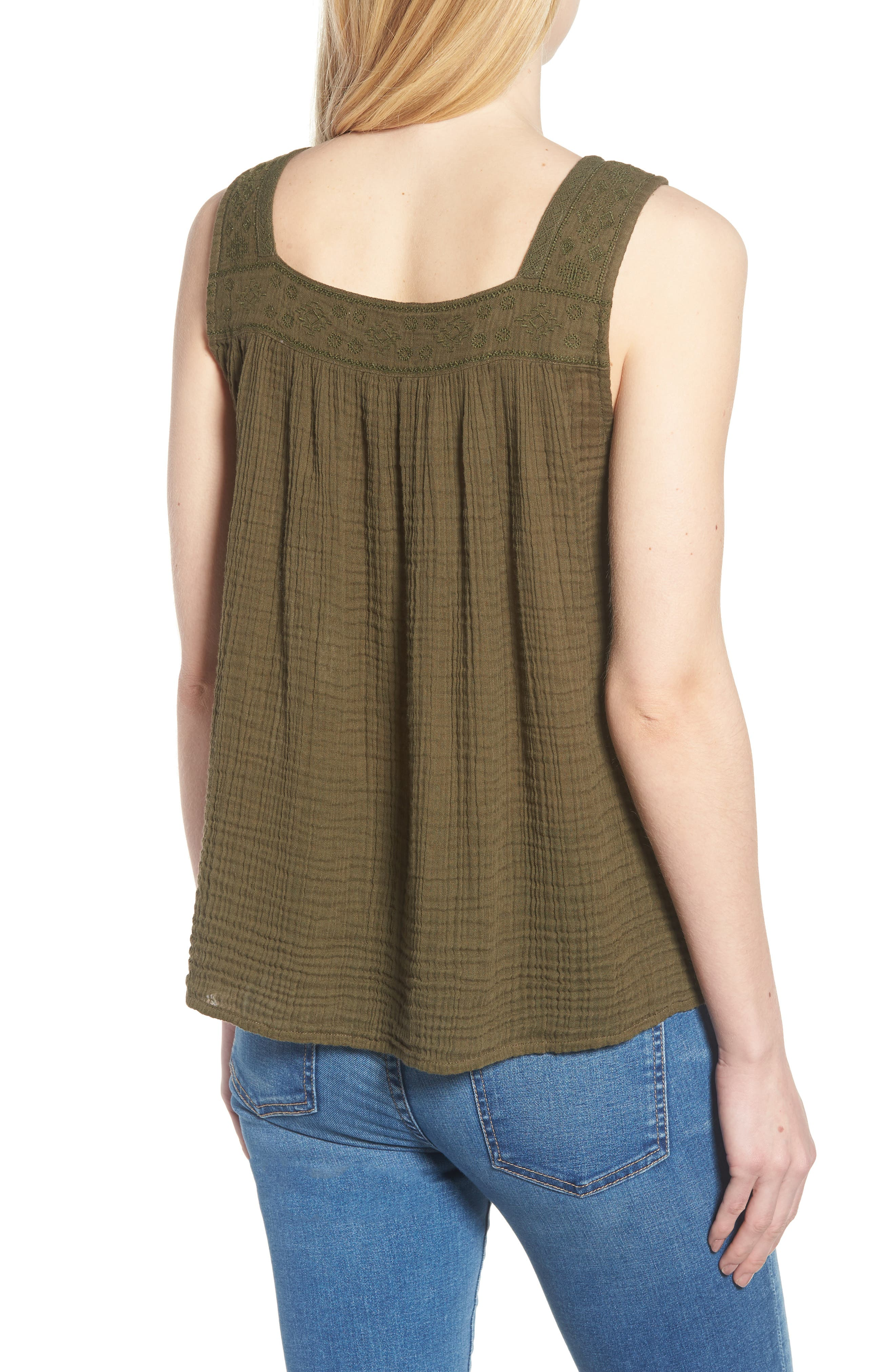 Embroidered Neck Swing Tank,                             Alternate thumbnail 9, color,