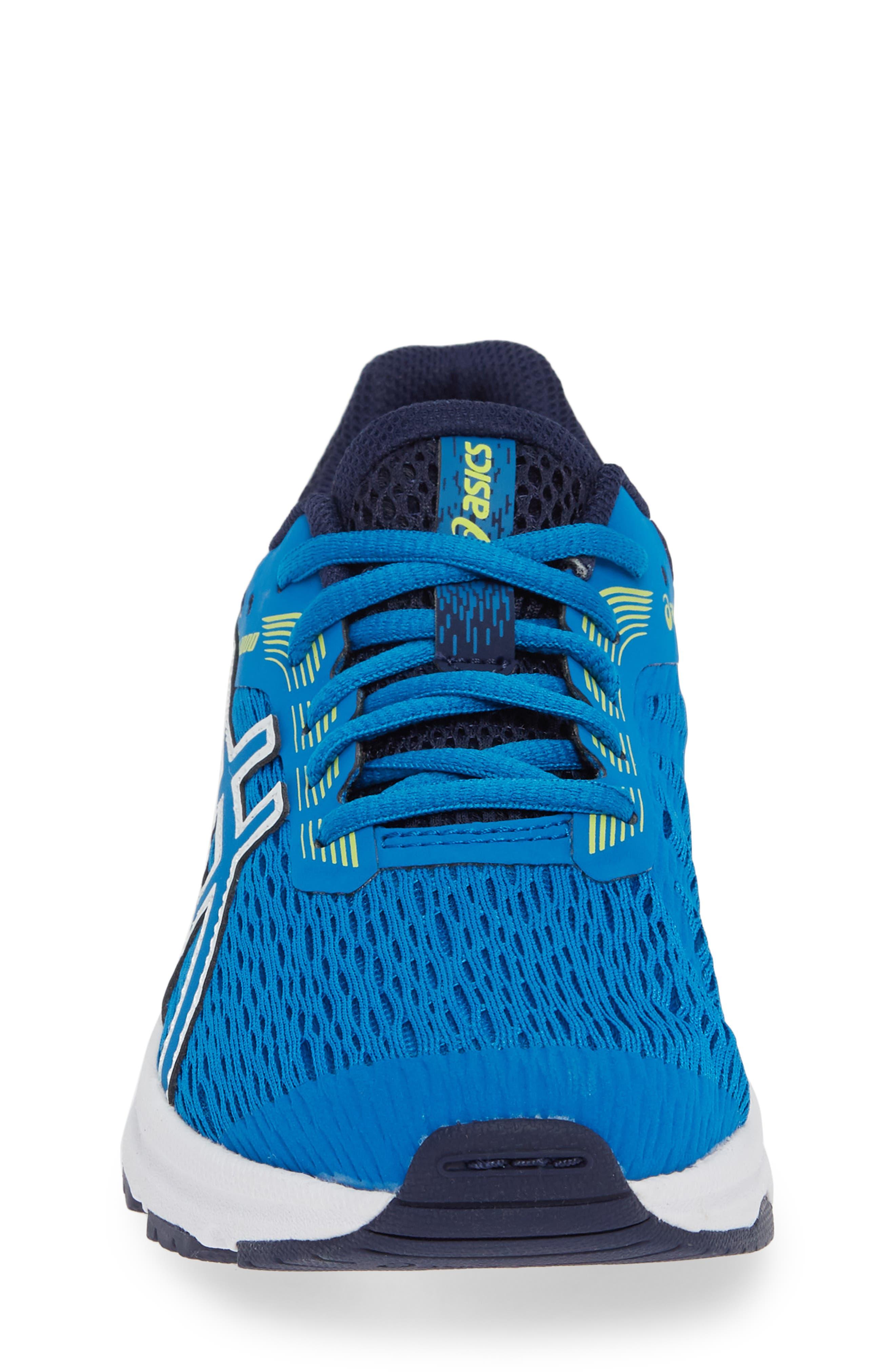 GT 1000 7 Running Shoe,                             Alternate thumbnail 4, color,                             RACE BLUE/ NEON LIME