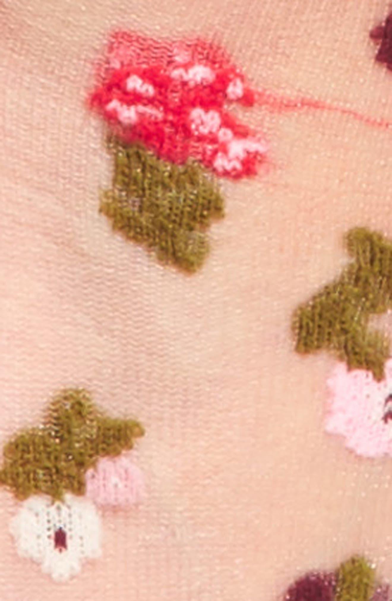 in bloom sheer trouser socks,                             Alternate thumbnail 2, color,                             001