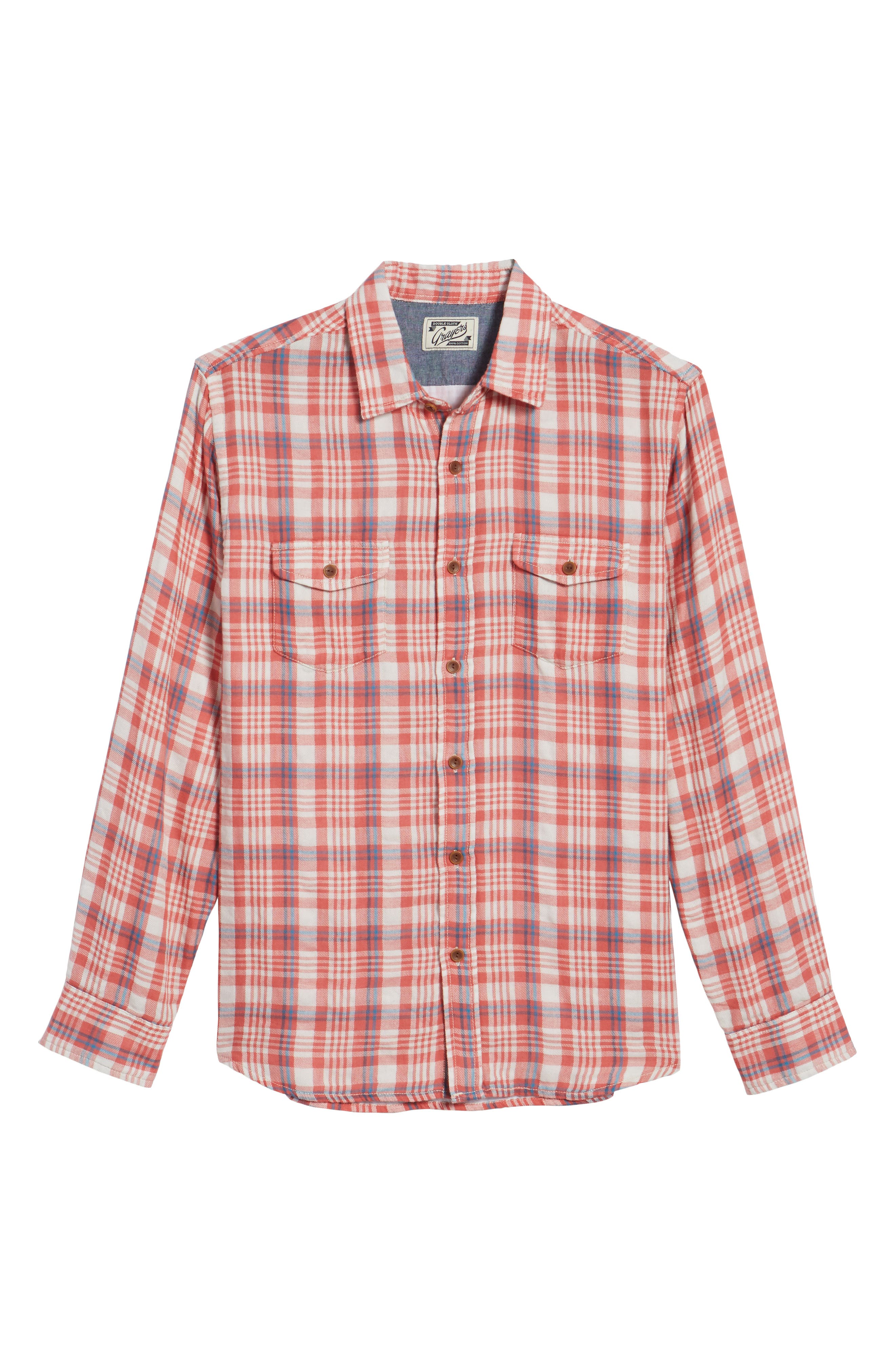 Barnard Slim Fit Plaid Sport Shirt,                             Alternate thumbnail 6, color,                             647