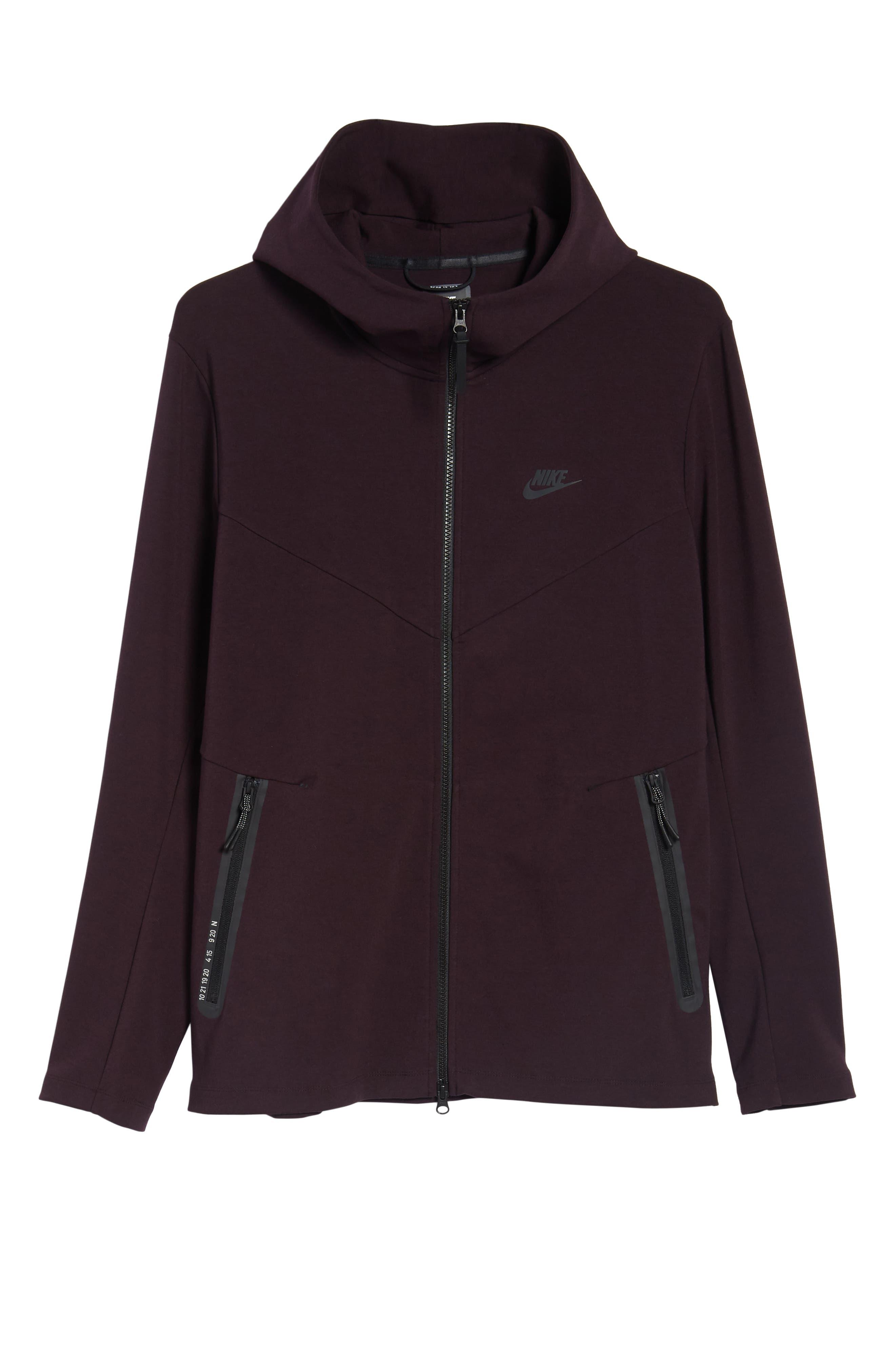 Sportswear Tech Full Zip Hoodie,                             Alternate thumbnail 6, color,                             BLACK/ BLACK