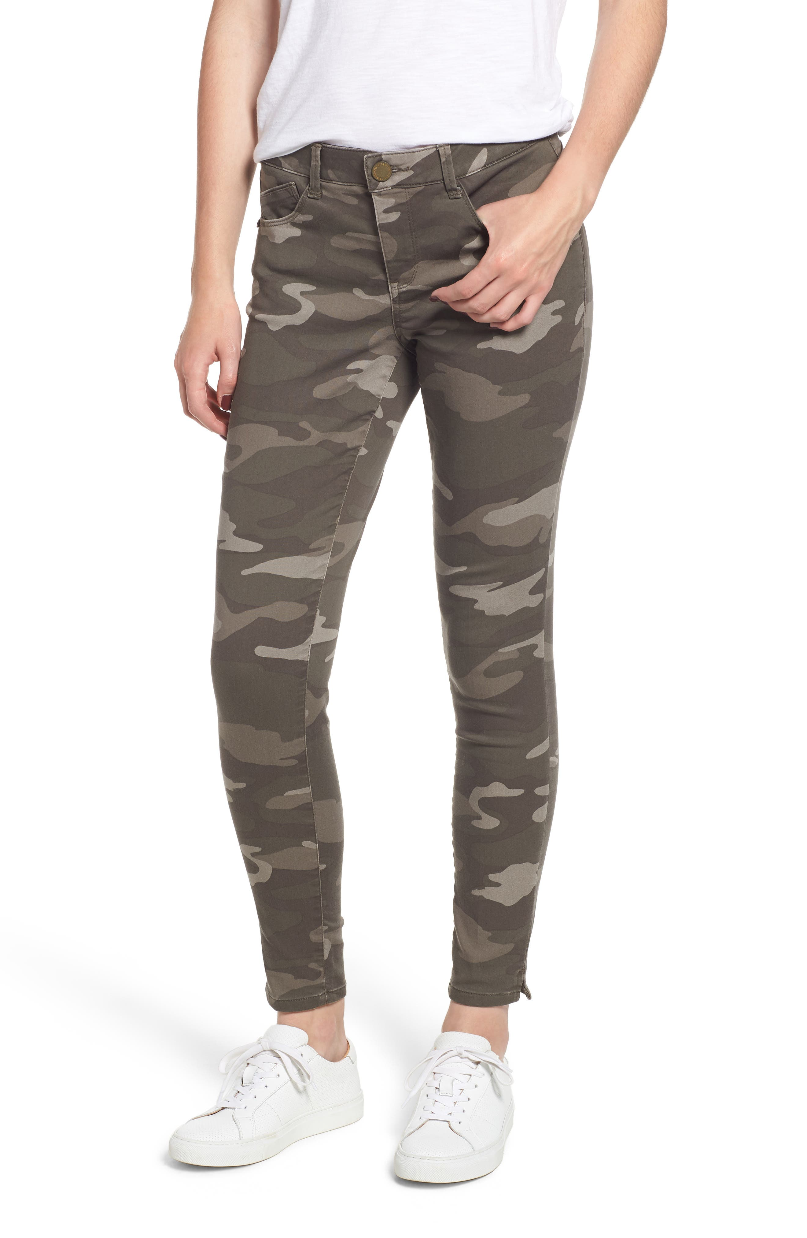 Ab-solution Ankle Skinny Jeans,                         Main,                         color, MUSHROOM
