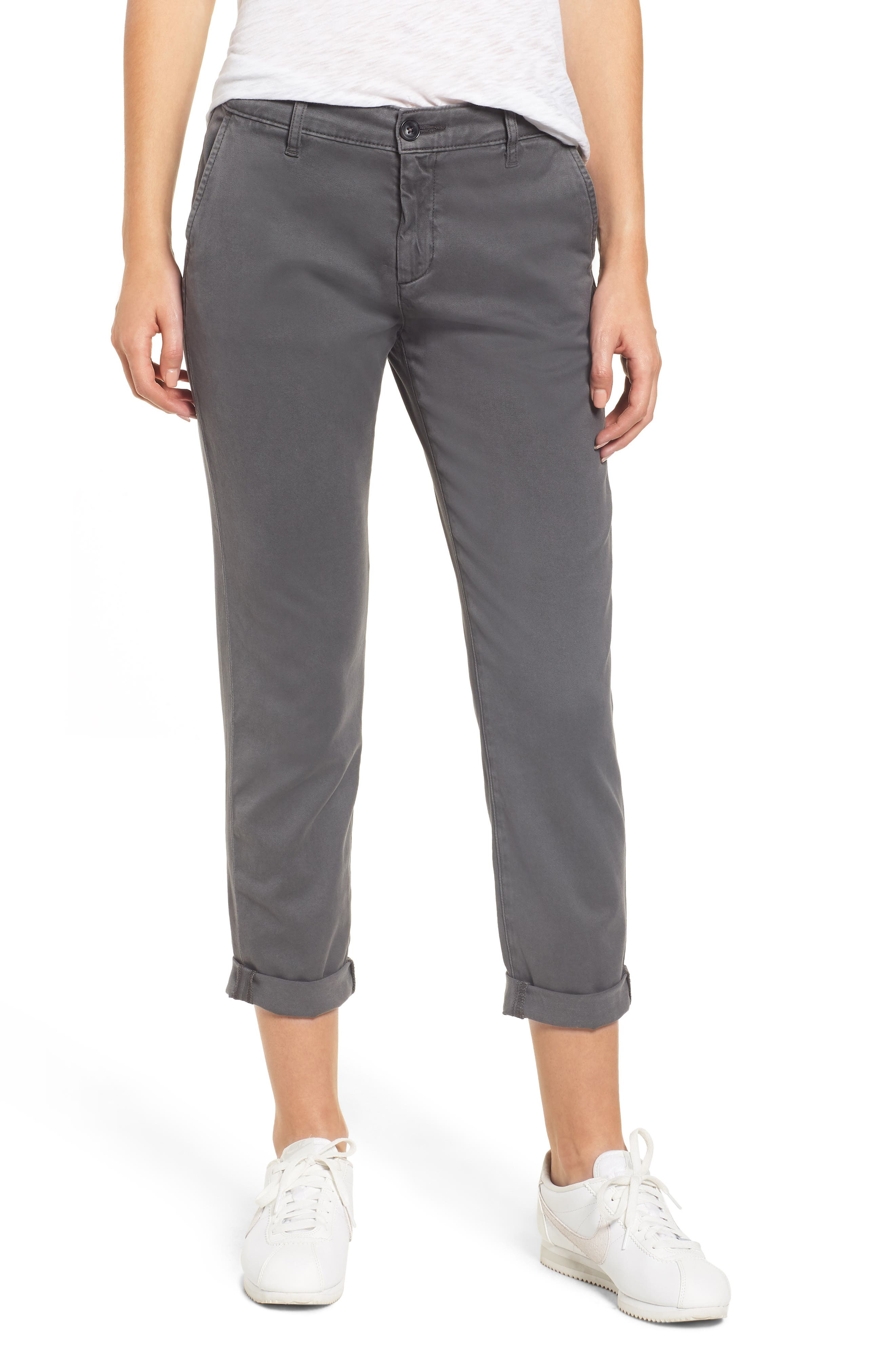 Caden Crop Twill Trousers,                             Main thumbnail 1, color,                             039