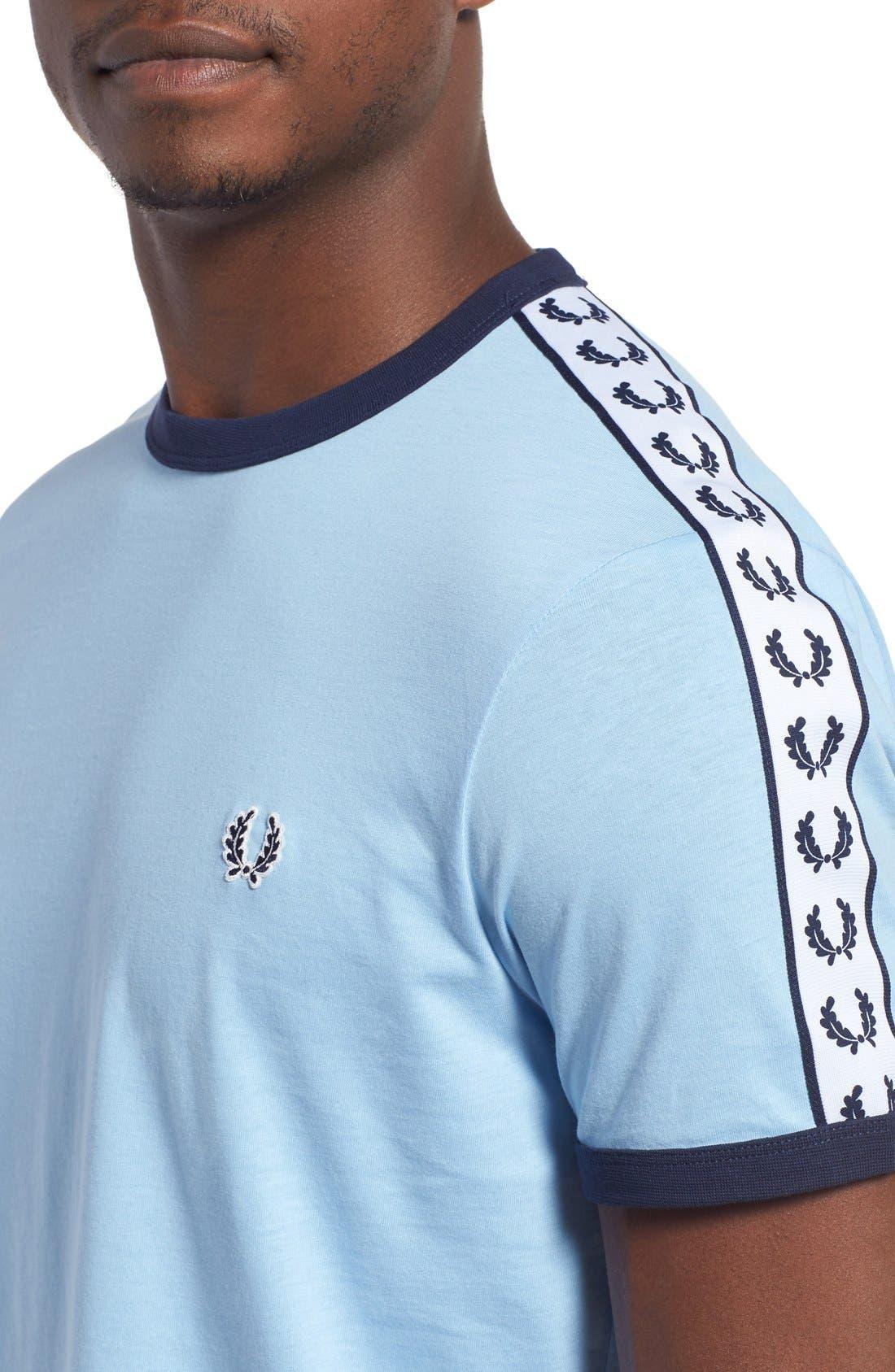 Extra Trim Fit Cotton Ringer T-Shirt,                             Alternate thumbnail 28, color,