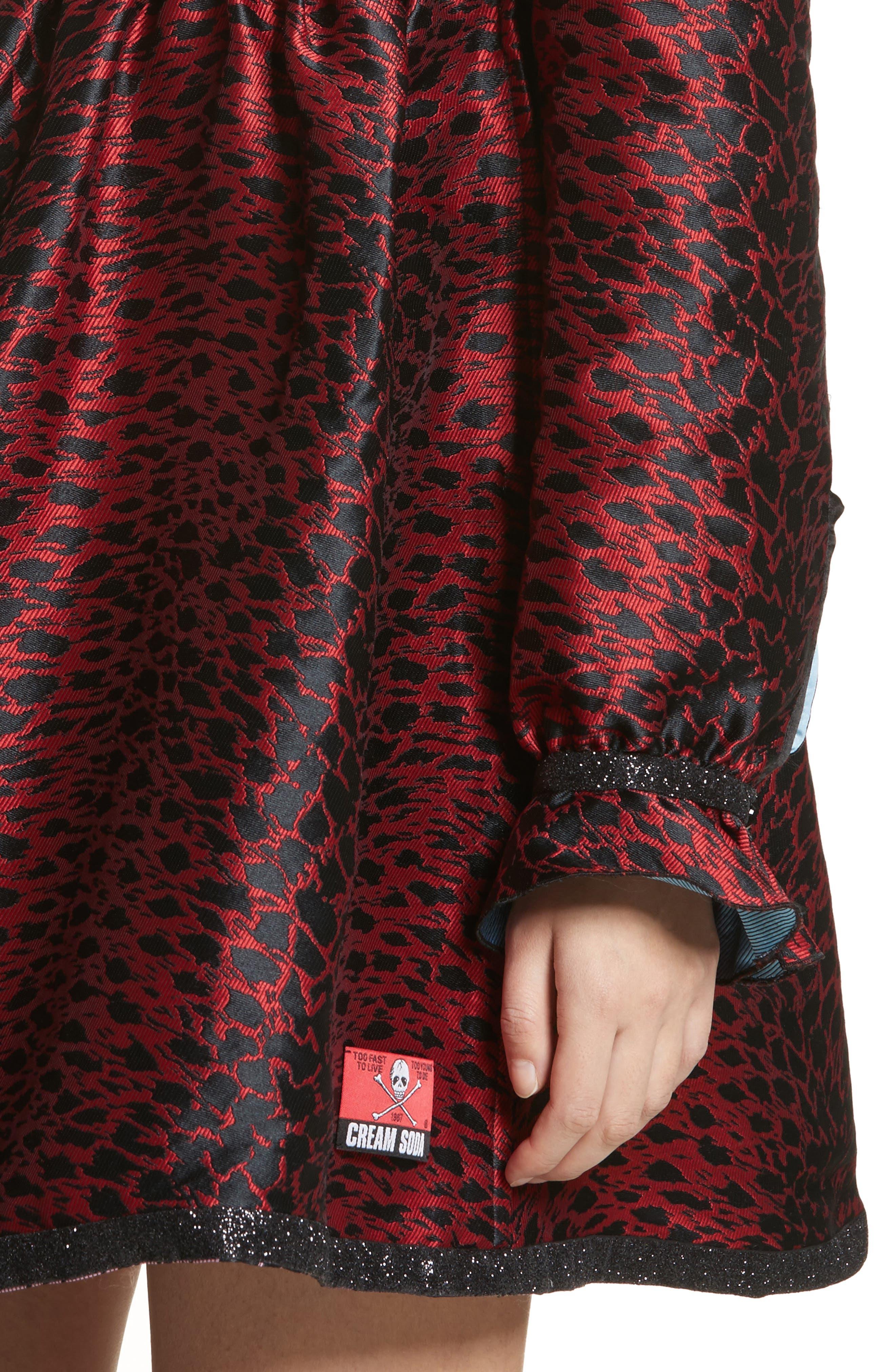 Leopard Reversible Minidress,                             Alternate thumbnail 5, color,