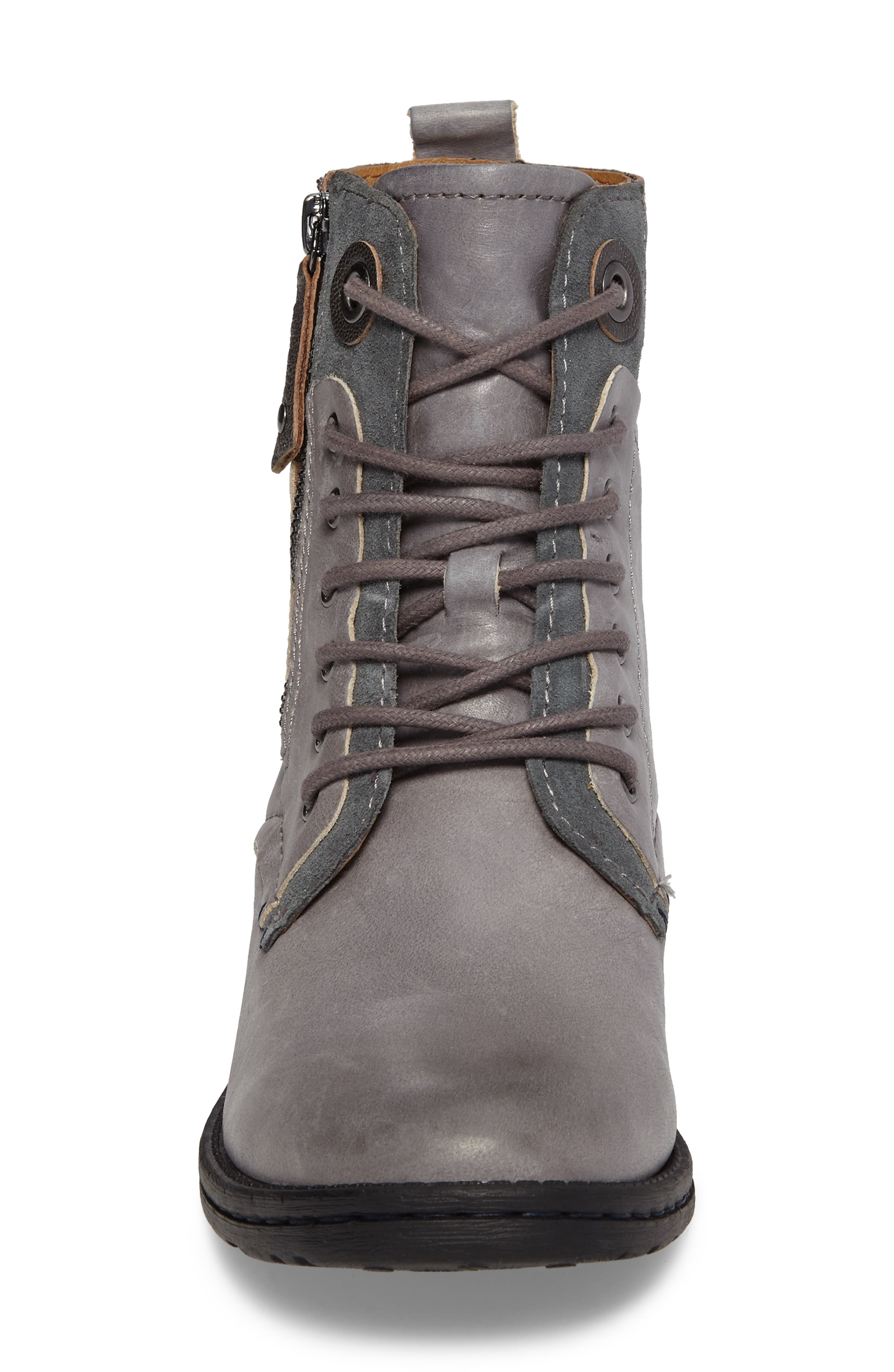 COMFORTIVA,                             Sarango Lace-Up Boot,                             Alternate thumbnail 4, color,                             GREY LEATHER