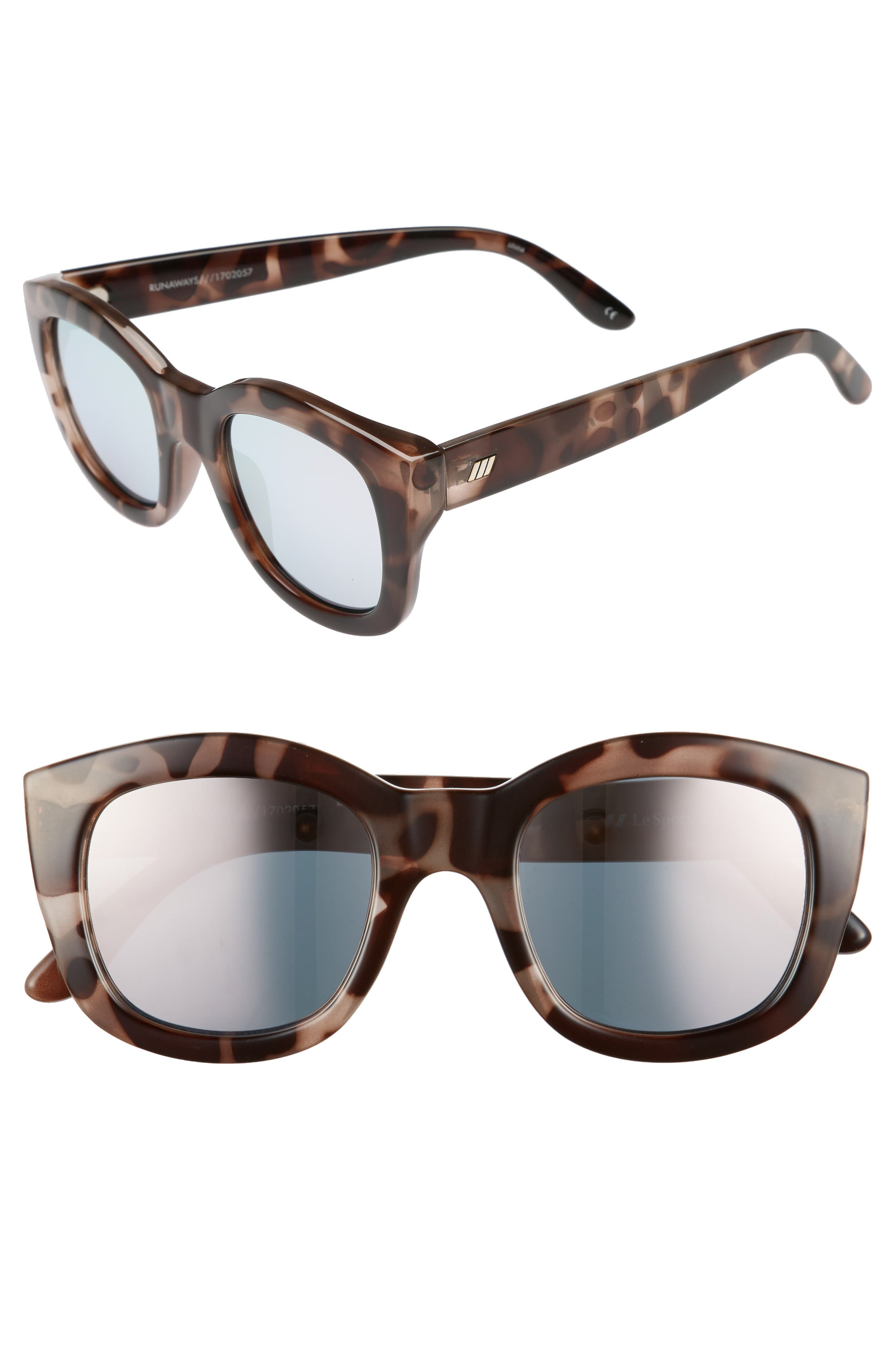 Runaways 48mm Rectangular Sunglasses,                         Main,                         color, 200