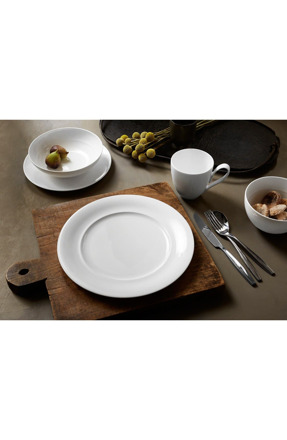 'Skye Collection' 4-Piece Bone China Place Setting,                             Alternate thumbnail 3, color,                             WHITE