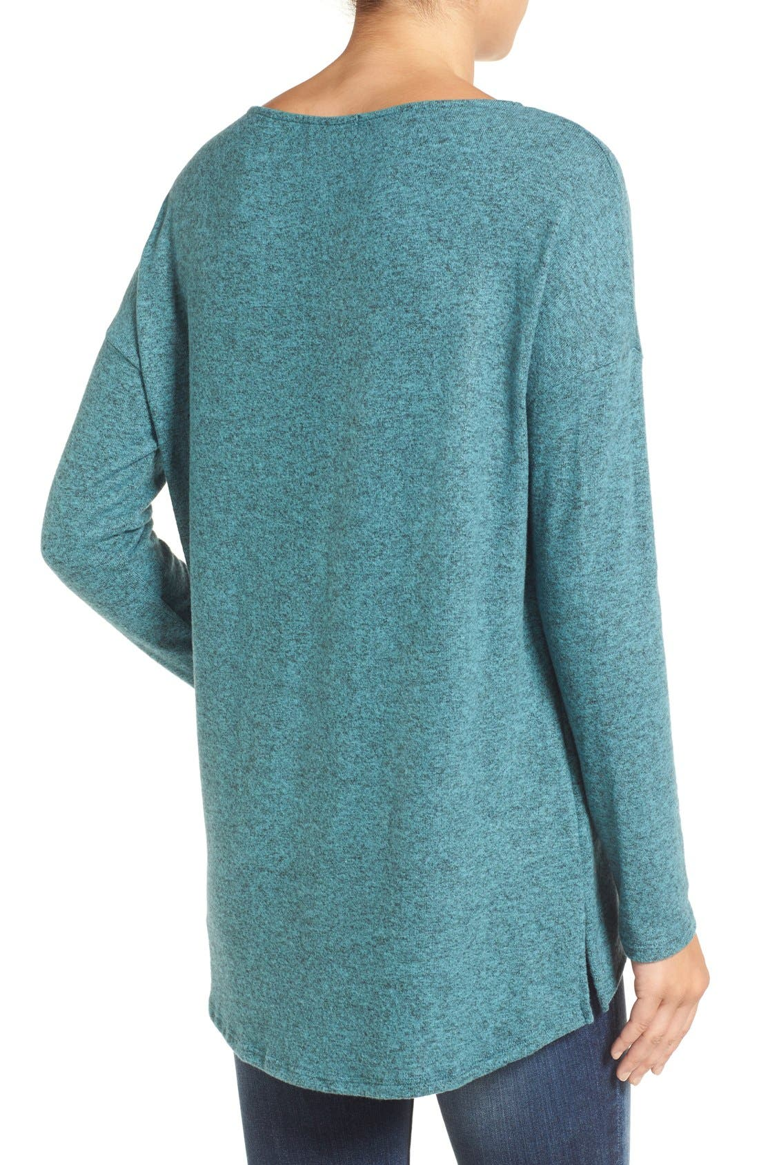 Cozy Ballet Neck High/Low Pullover,                             Alternate thumbnail 27, color,