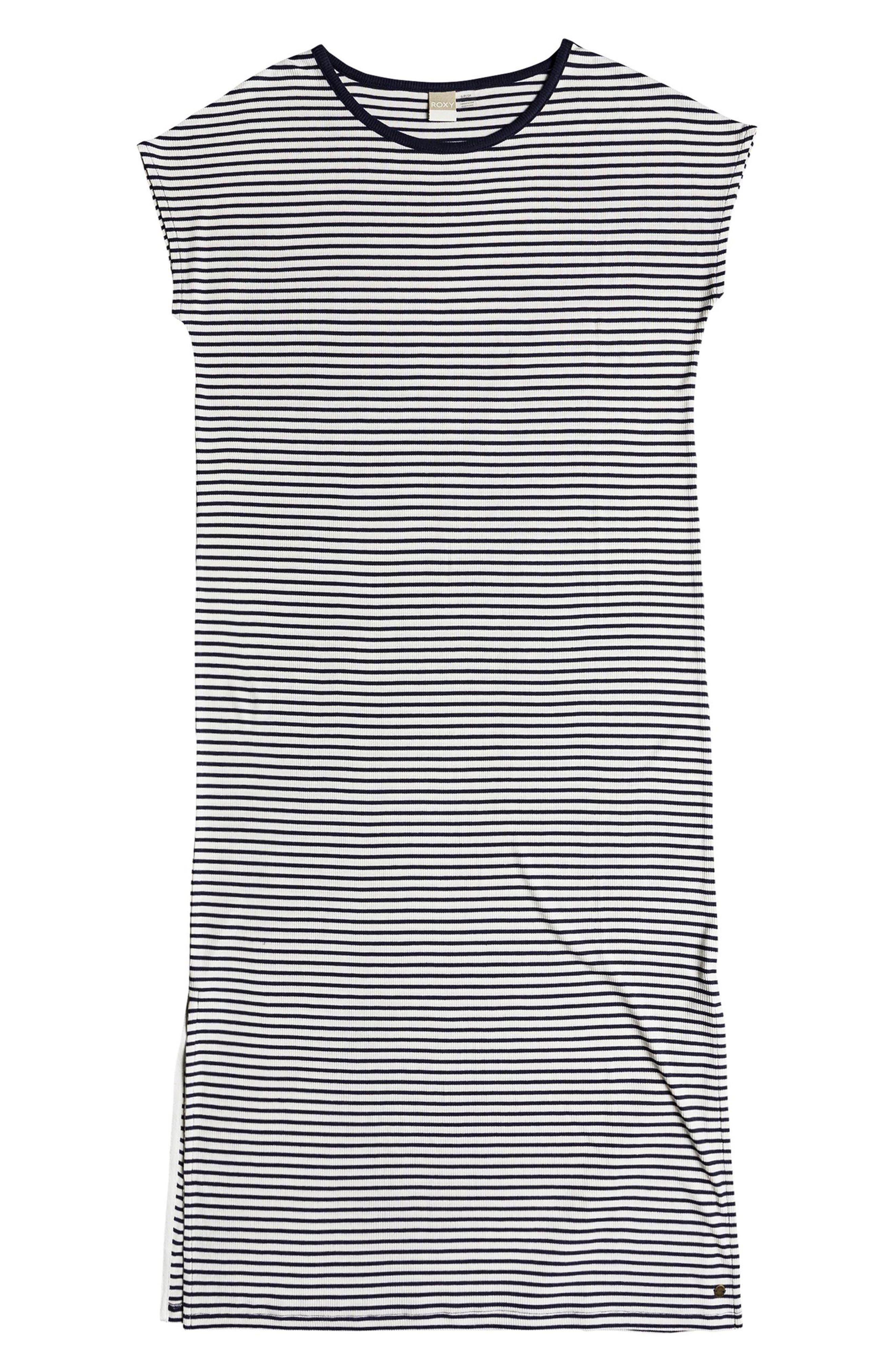 Make It New Stripe Midi Dress,                             Alternate thumbnail 4, color,                             100