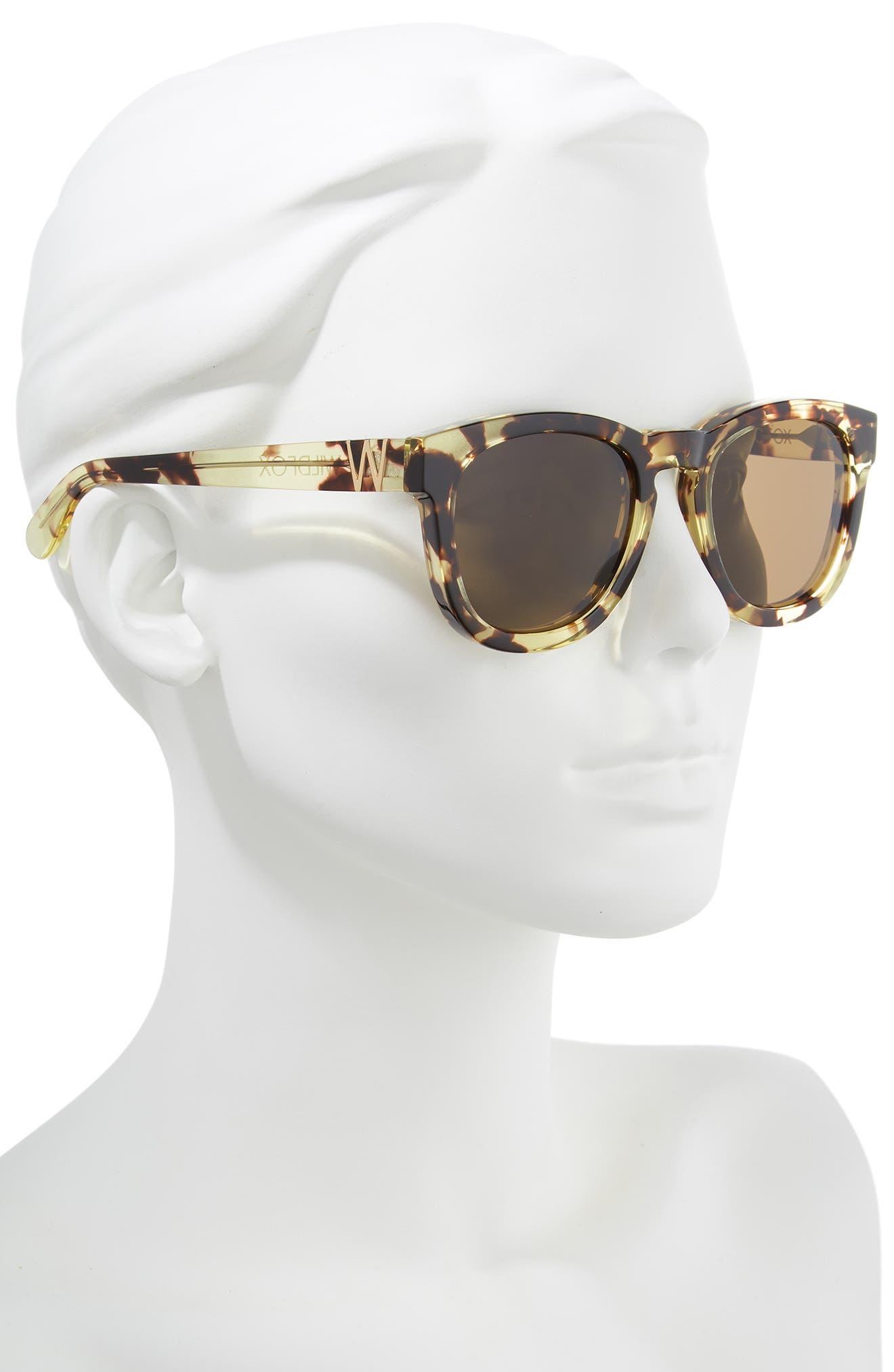 'Classic Fox' 50mm Retro Sunglasses,                             Alternate thumbnail 3, color,                             203