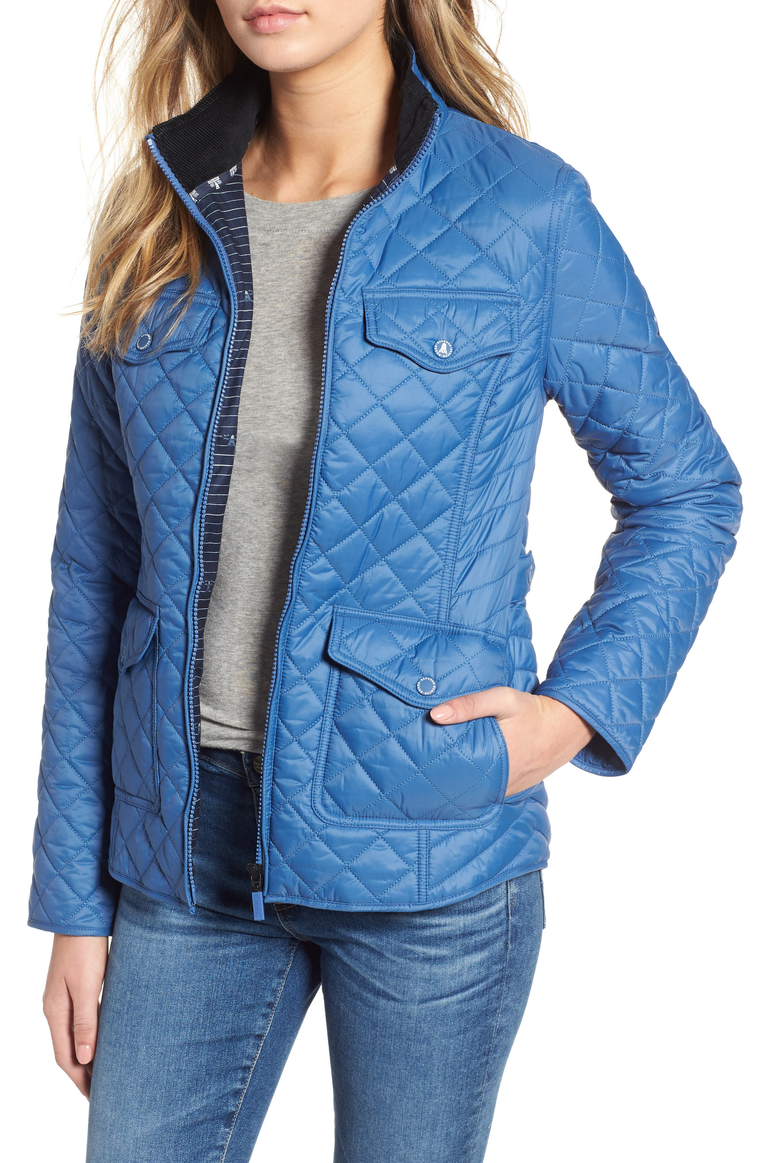 Barbour Sailboat Quilted Jacket, US / 10 UK - Blue