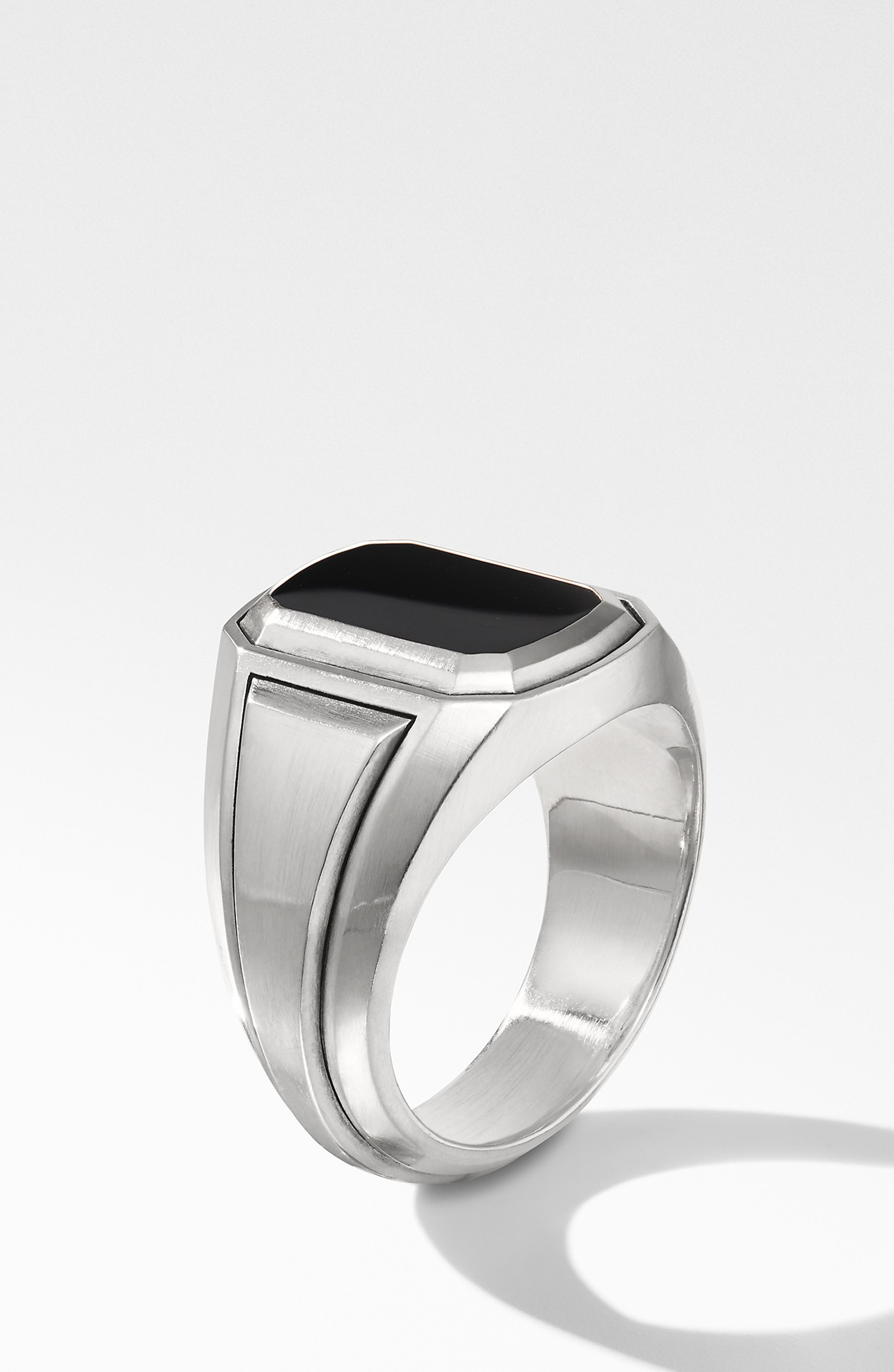 Deco Signet Ring with Black Onyx,                             Alternate thumbnail 2, color,                             BLACK ONYX