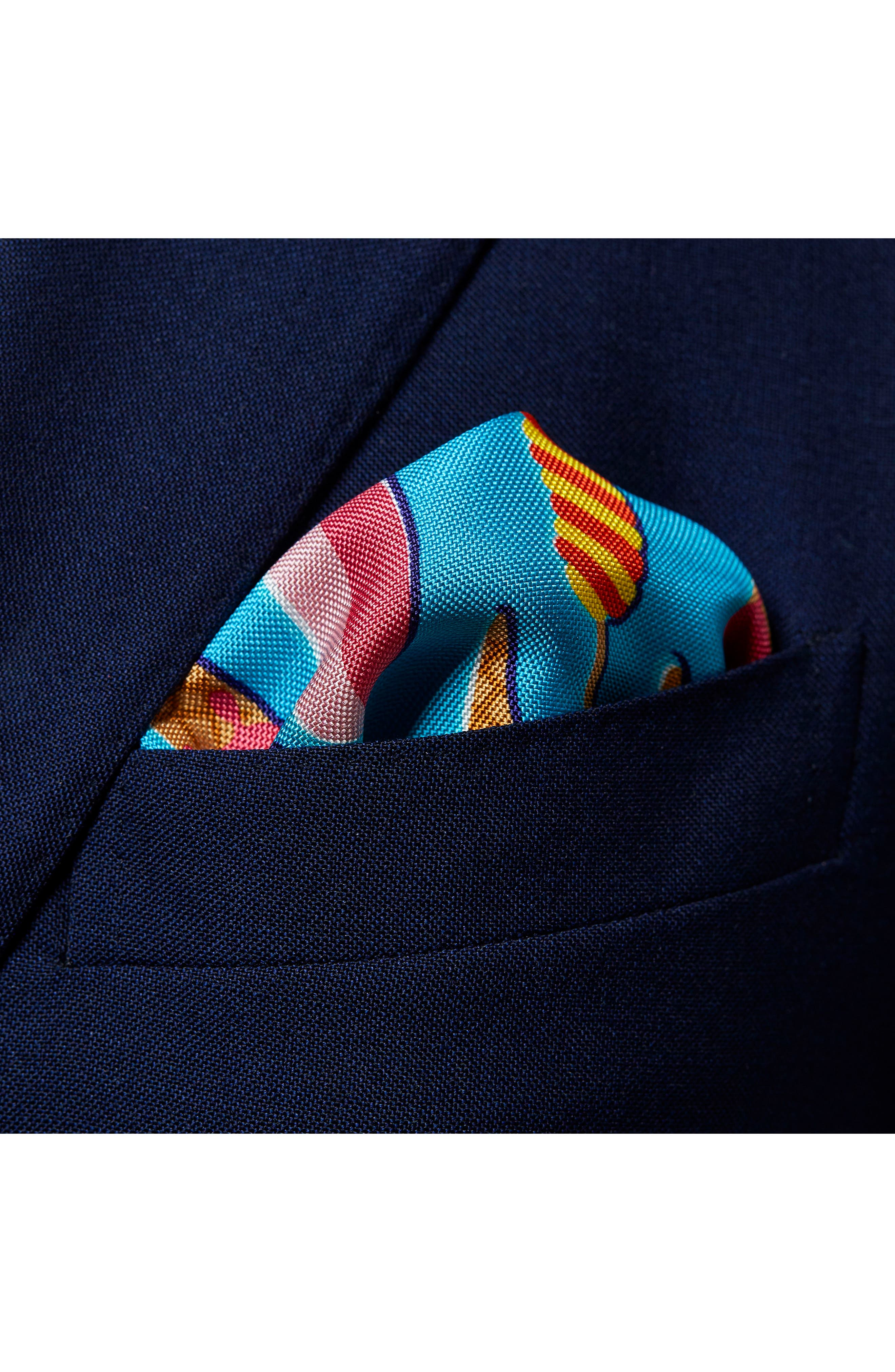 Ice Cream Silk Pocket Square,                             Alternate thumbnail 2, color,                             400