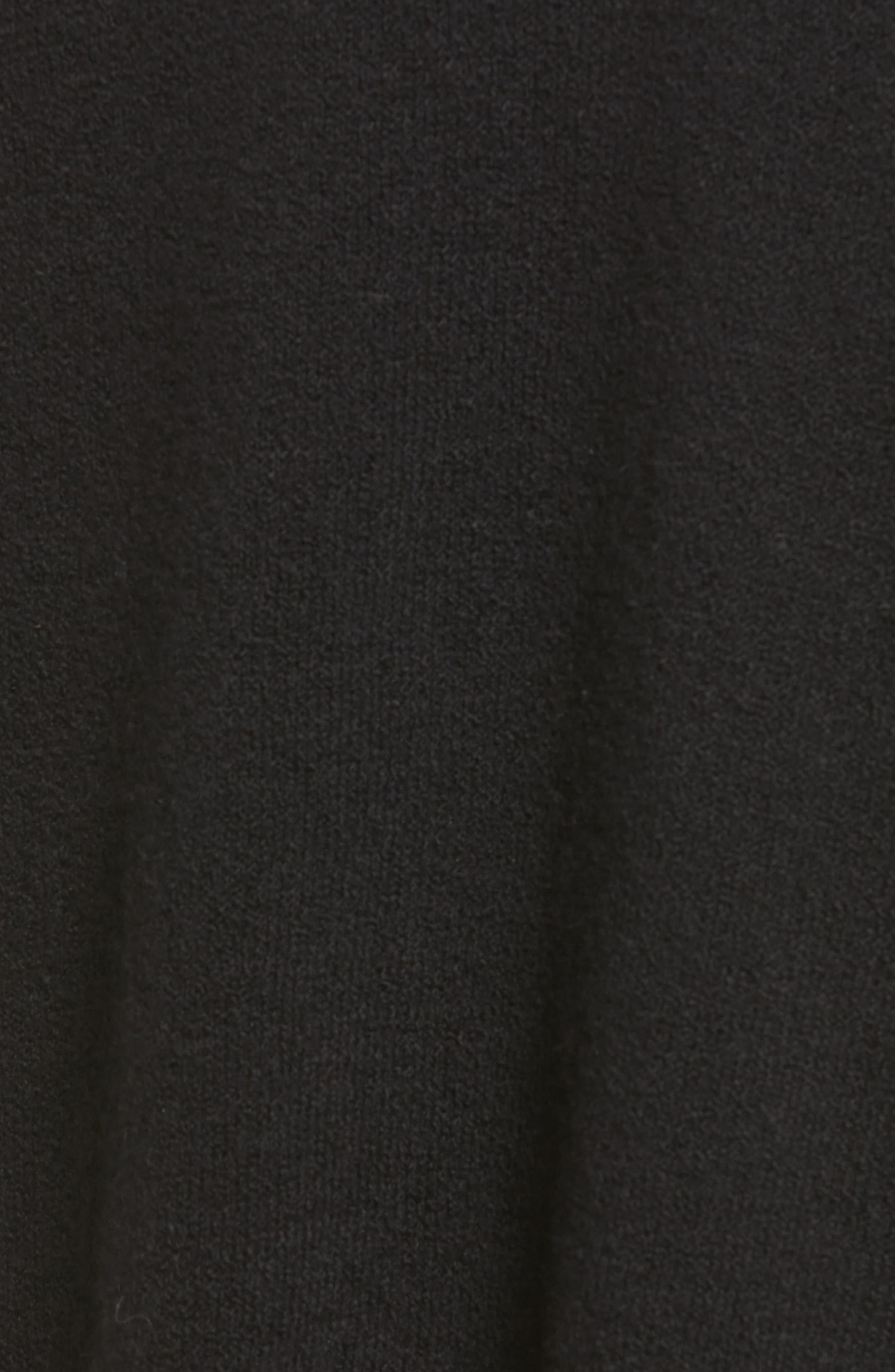 Rib Trim Long Cardigan,                             Alternate thumbnail 5, color,                             001