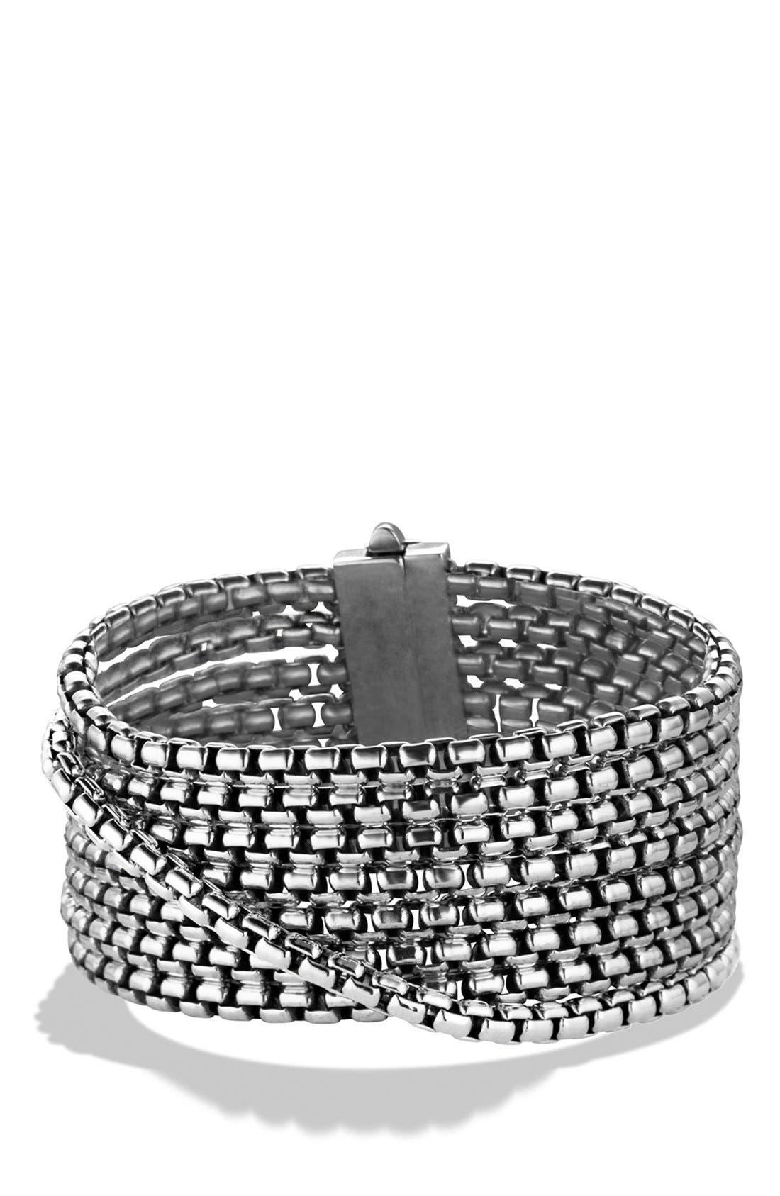 'Box Chain' 8-Row Bracelet,                             Main thumbnail 1, color,                             SILVER
