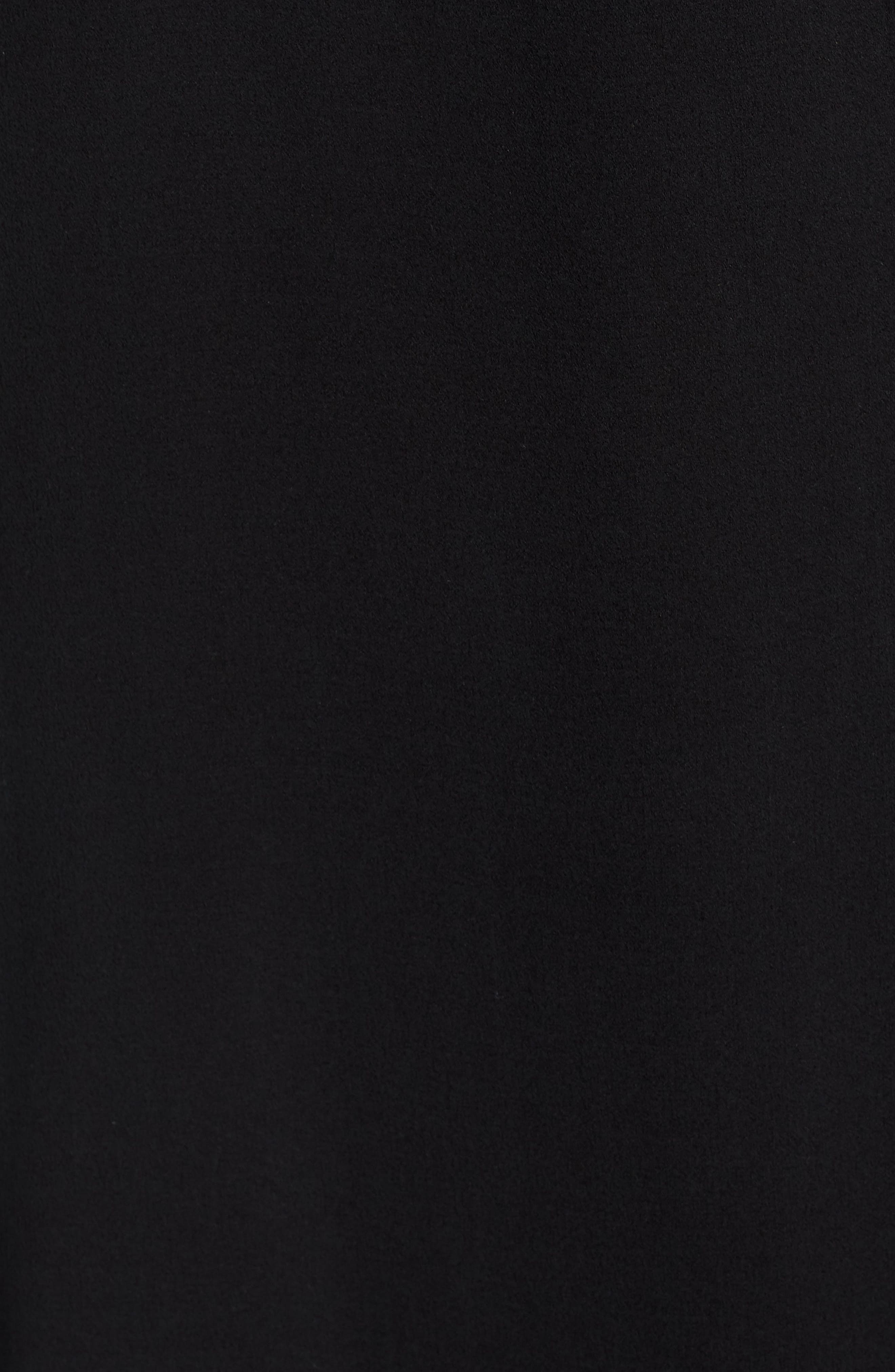 Silk Wrap Dress,                             Alternate thumbnail 6, color,                             001