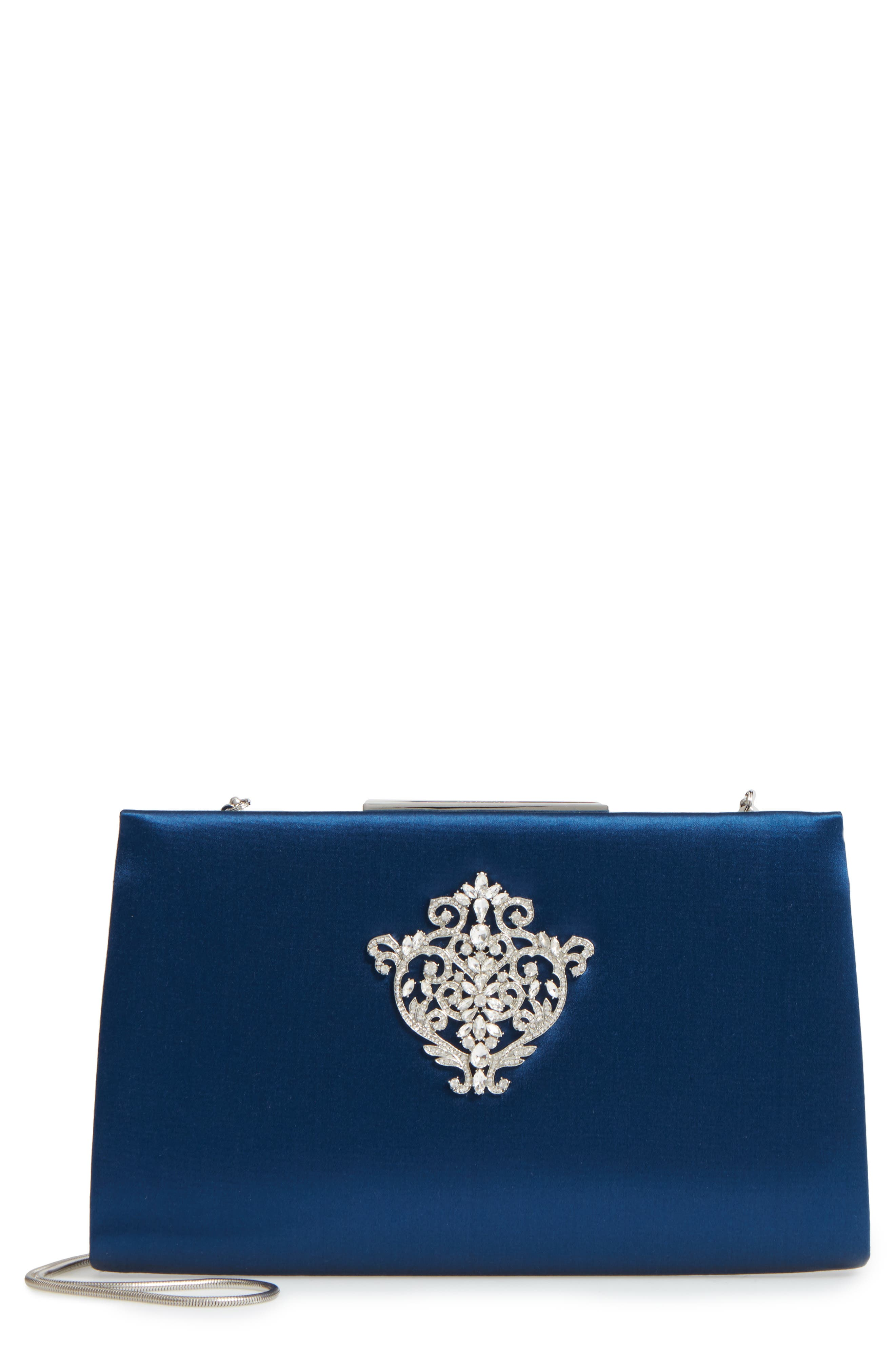 Dare Satin Clutch,                             Main thumbnail 3, color,