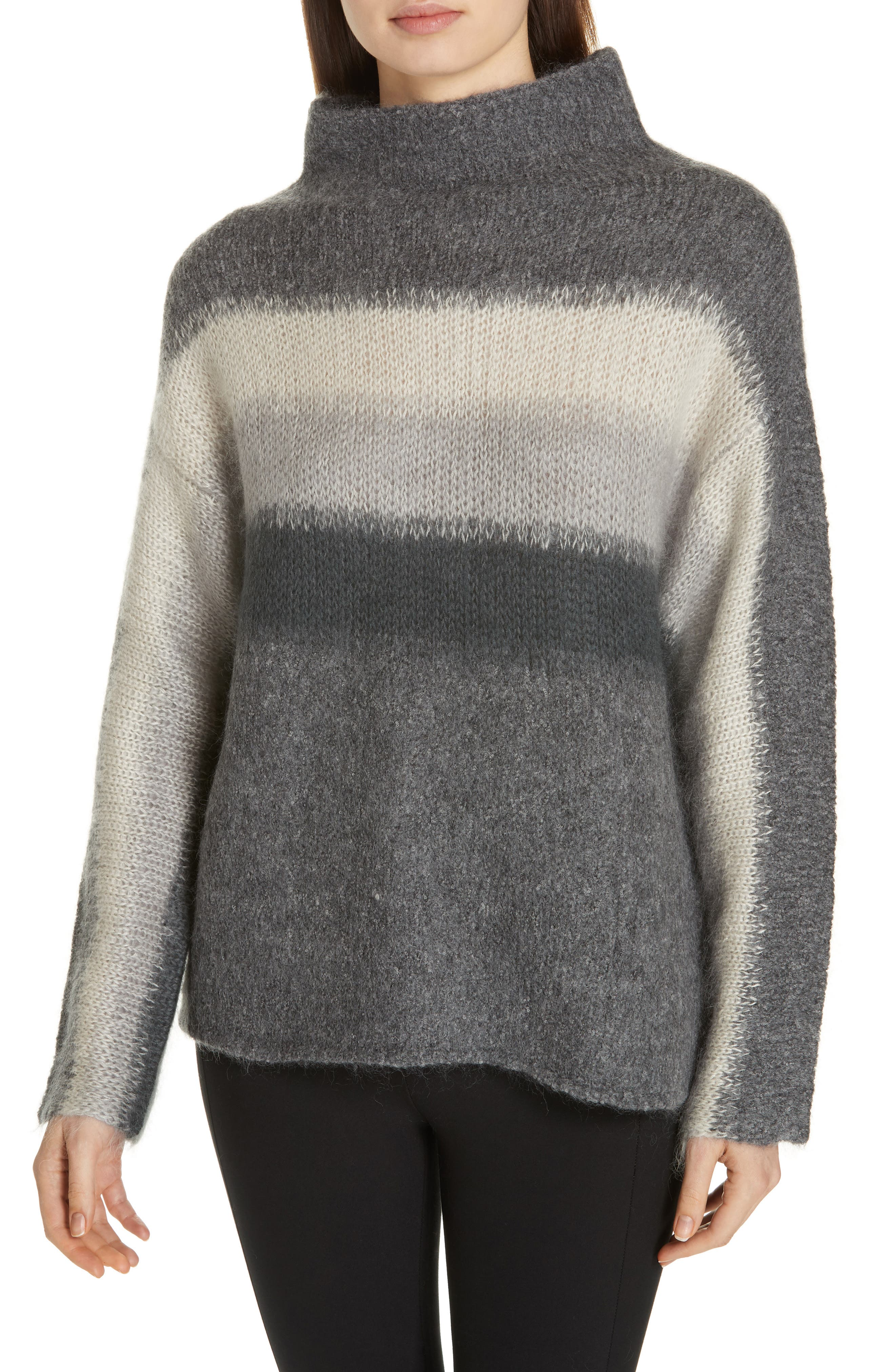 Holland Stripe Merino Wool & Mohair Blend Sweater, Main, color, 020