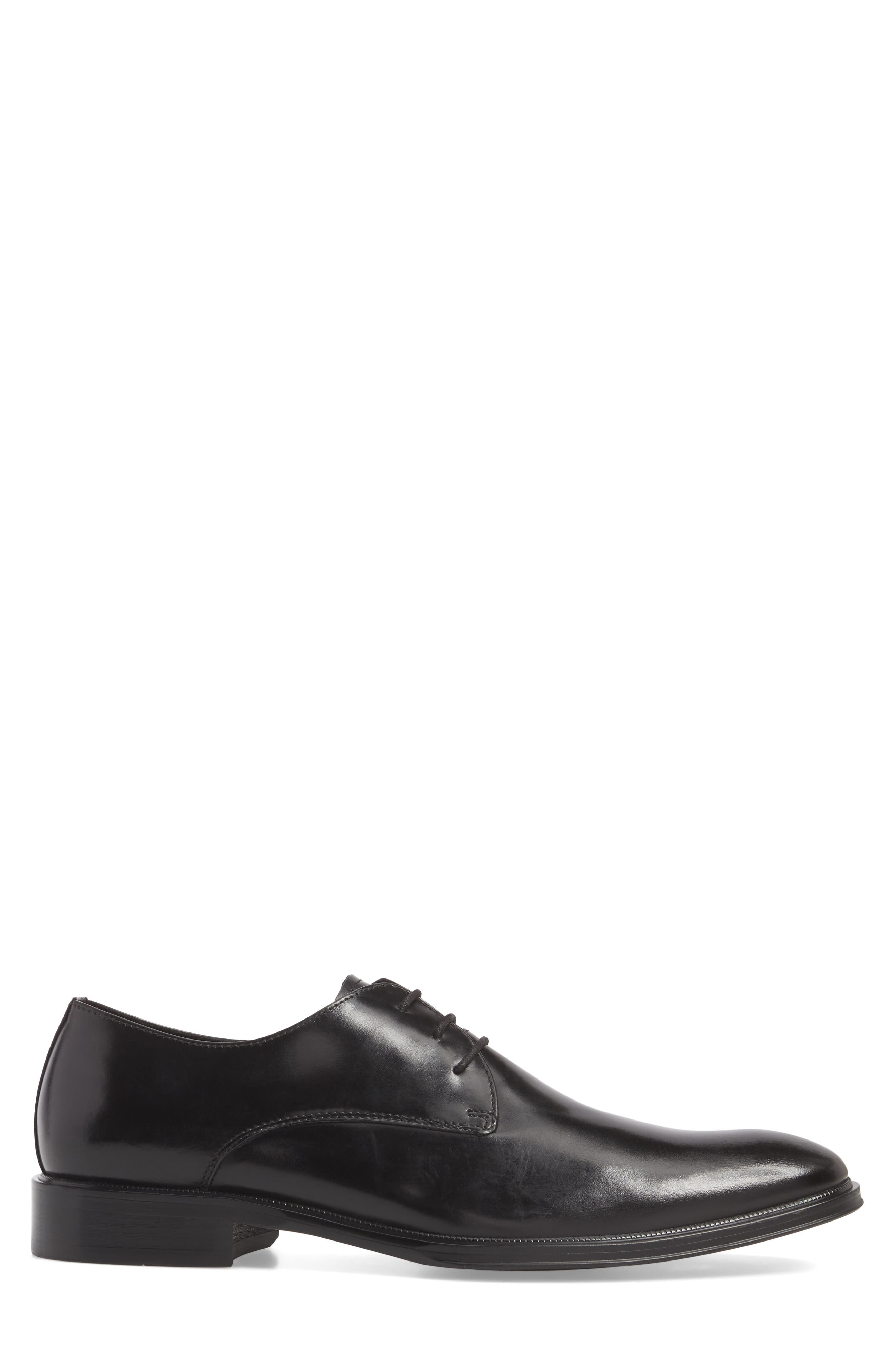 Kenneth Cole Tully Plain Toe Derby,                             Alternate thumbnail 3, color,                             001