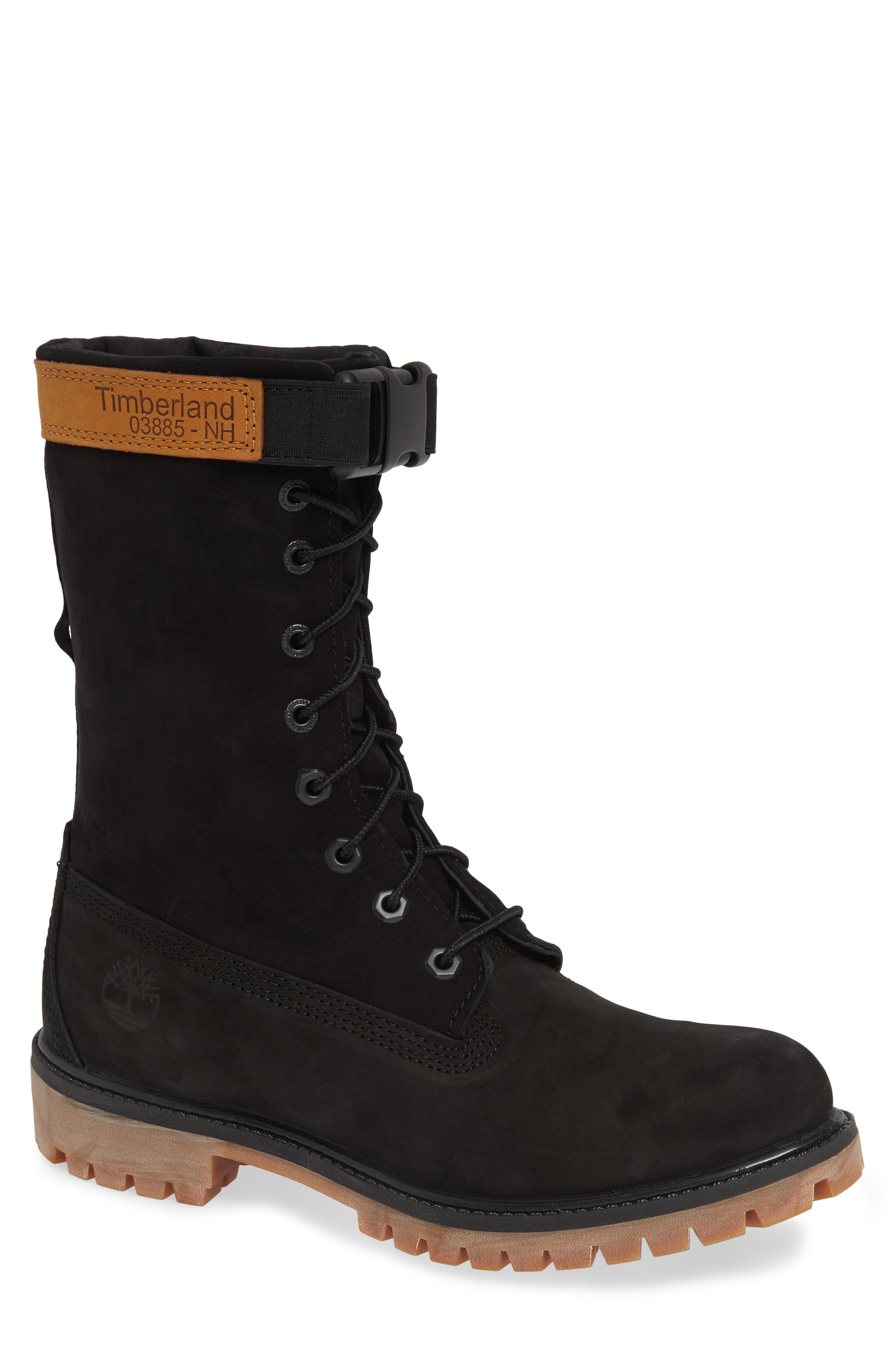 Gaiter Boot,                         Main,                         color, BLACK NUBUCK