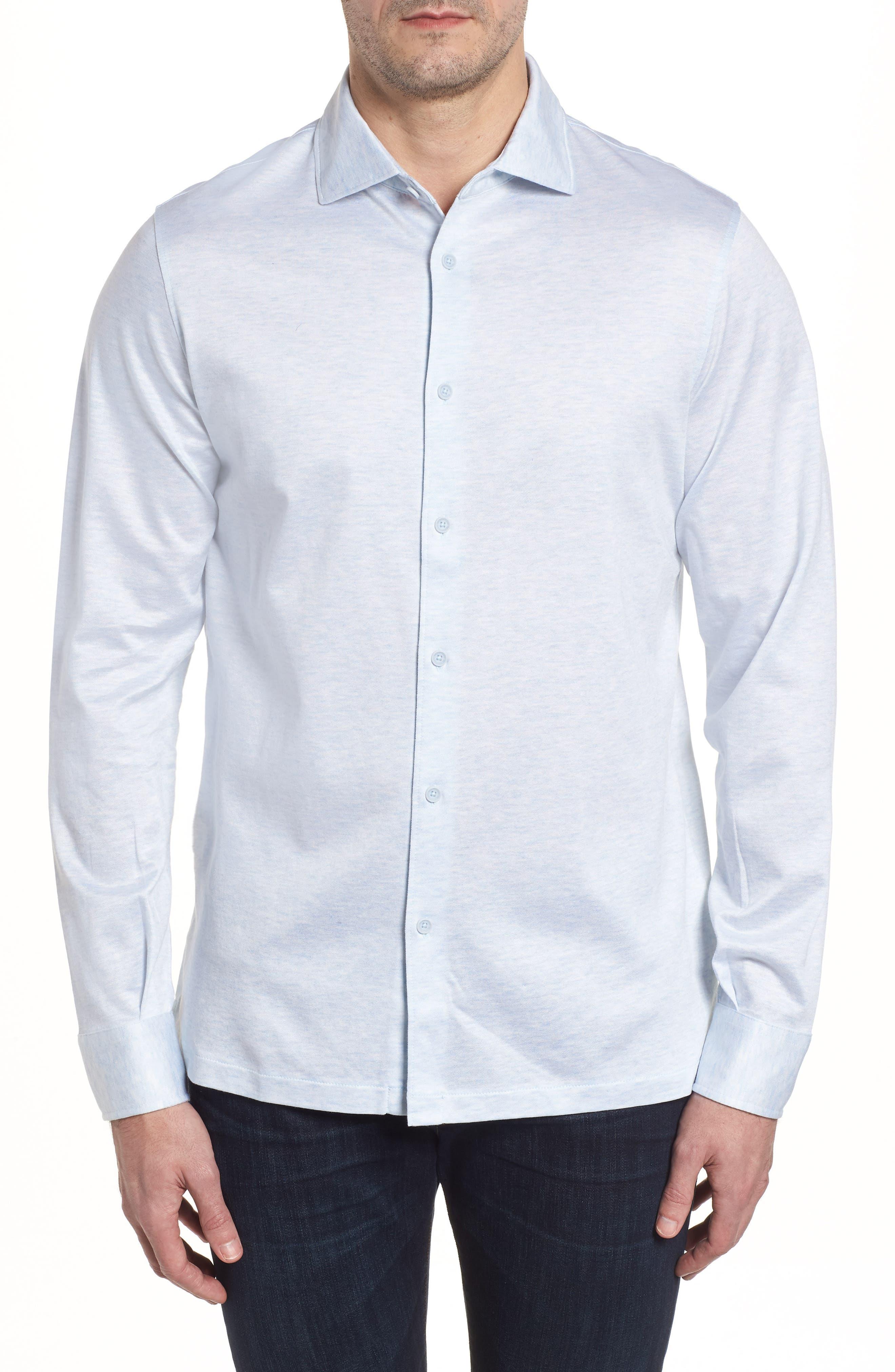 Regular Fit Silk Blend Sport Shirt,                             Main thumbnail 5, color,