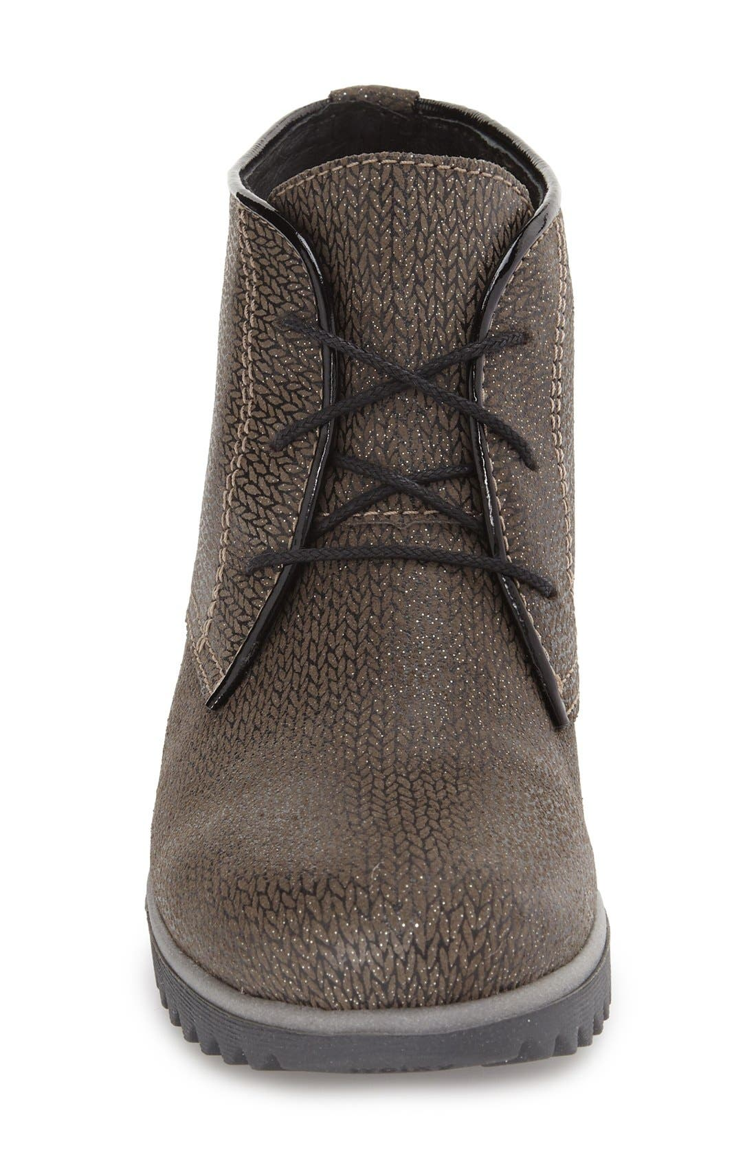 'Dusty' Hidden Wedge Bootie,                             Alternate thumbnail 3, color,                             TAUPE MALIBU SUEDE