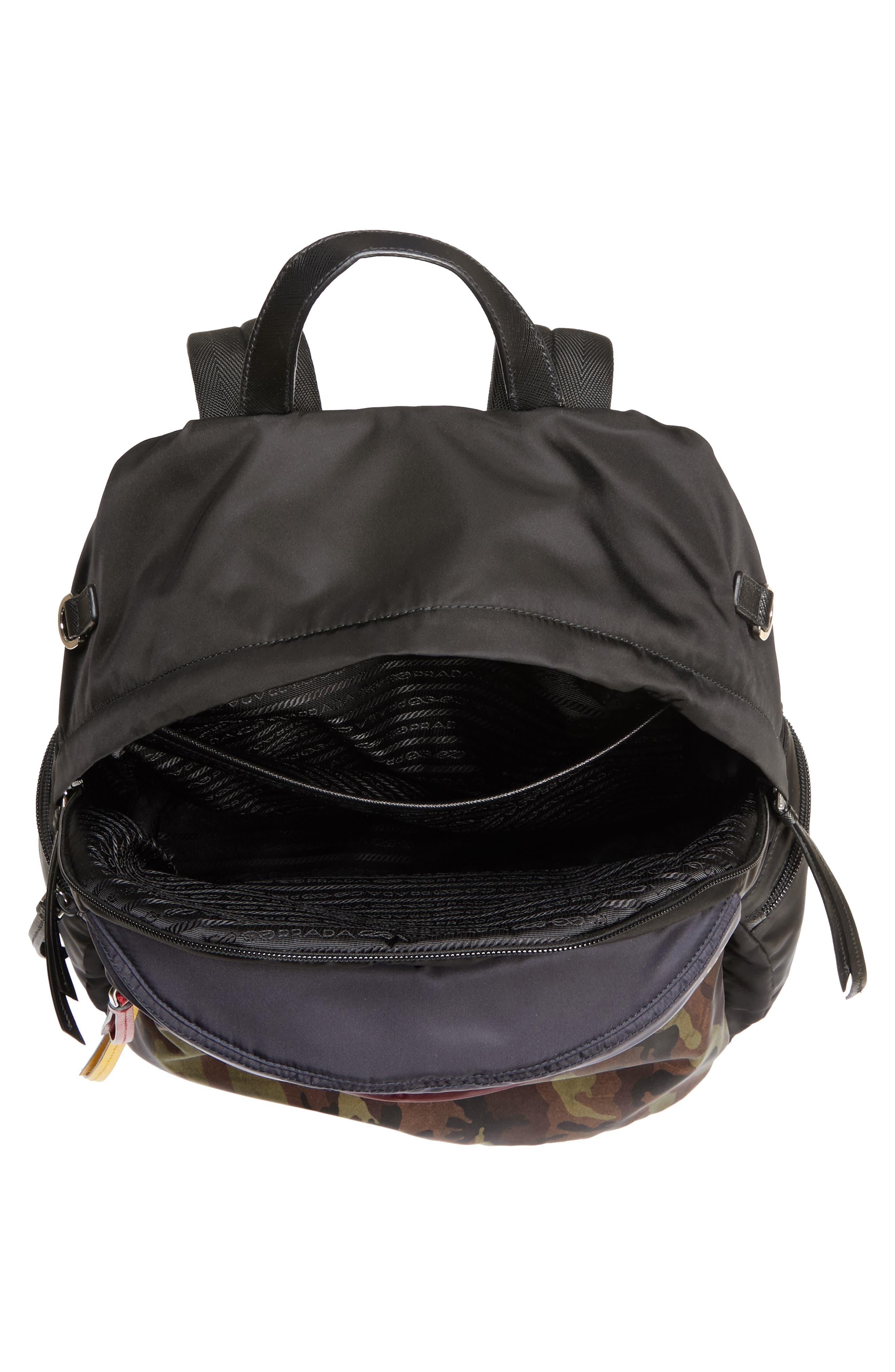 Tessuto Camo Patch Nylon Backpack,                             Alternate thumbnail 4, color,                             CAMO