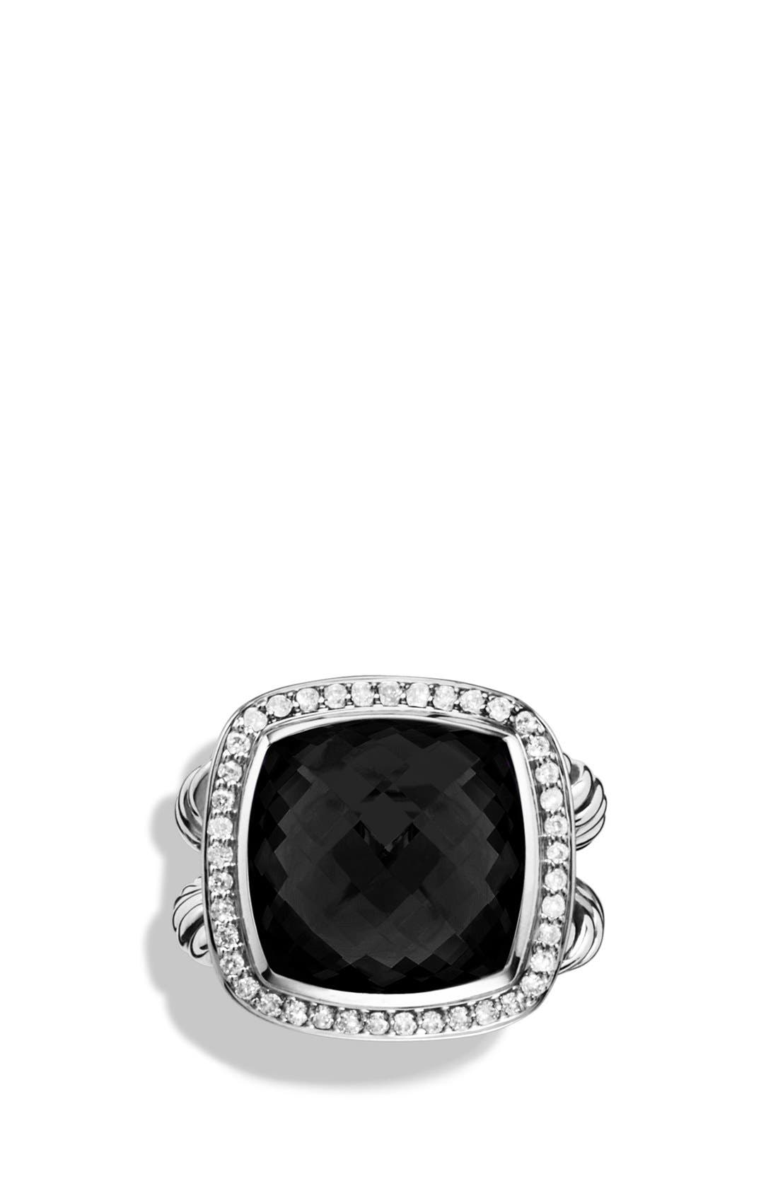 'Albion' Ring with Semiprecious Stone & Diamonds,                             Alternate thumbnail 4, color,                             001