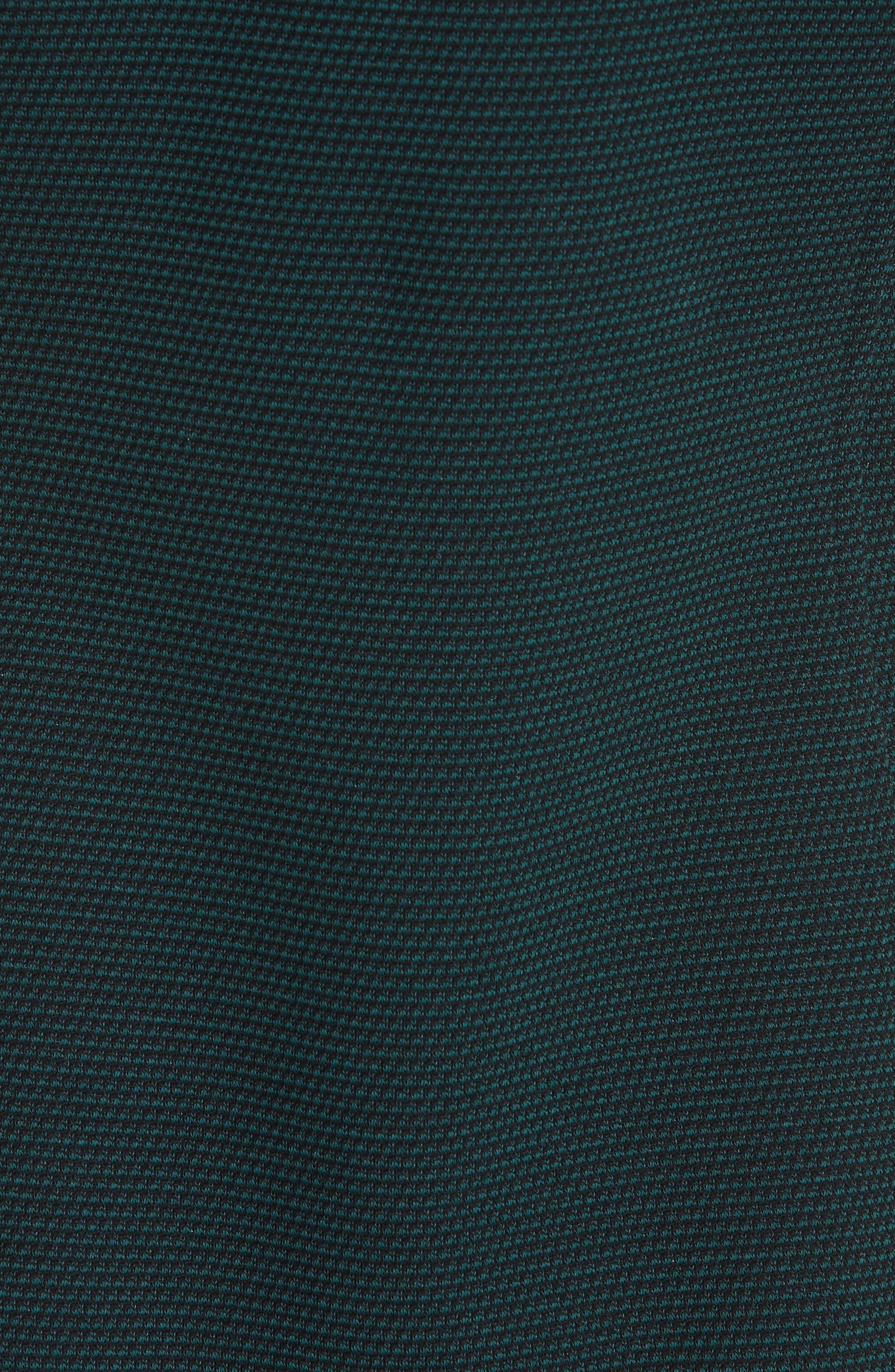 Easy Snap Textured Dress,                             Alternate thumbnail 5, color,                             GREEN POPLAR/ POP NAVY