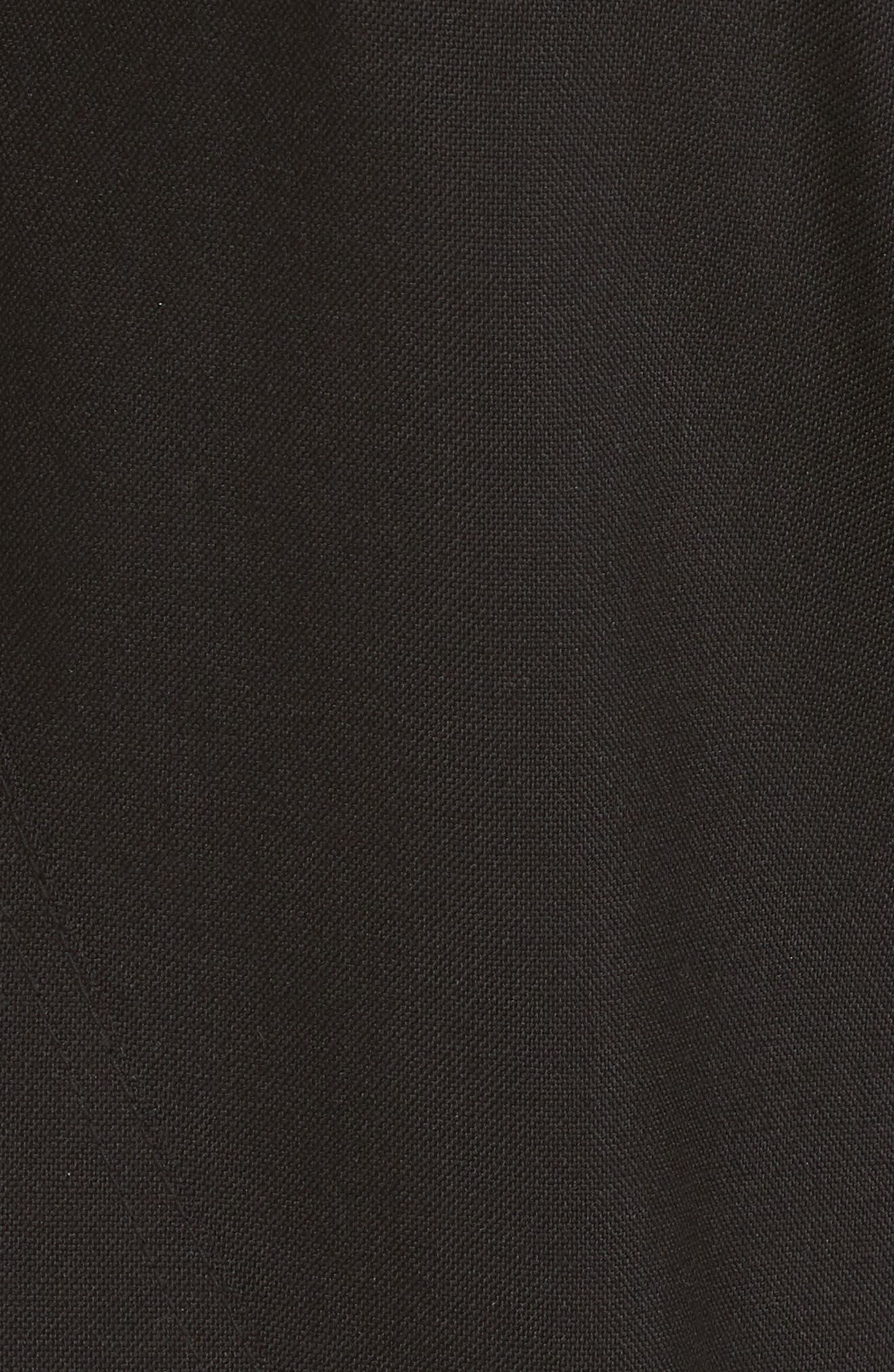 Wool & Mohair Biker Pants,                             Alternate thumbnail 5, color,                             BLACK