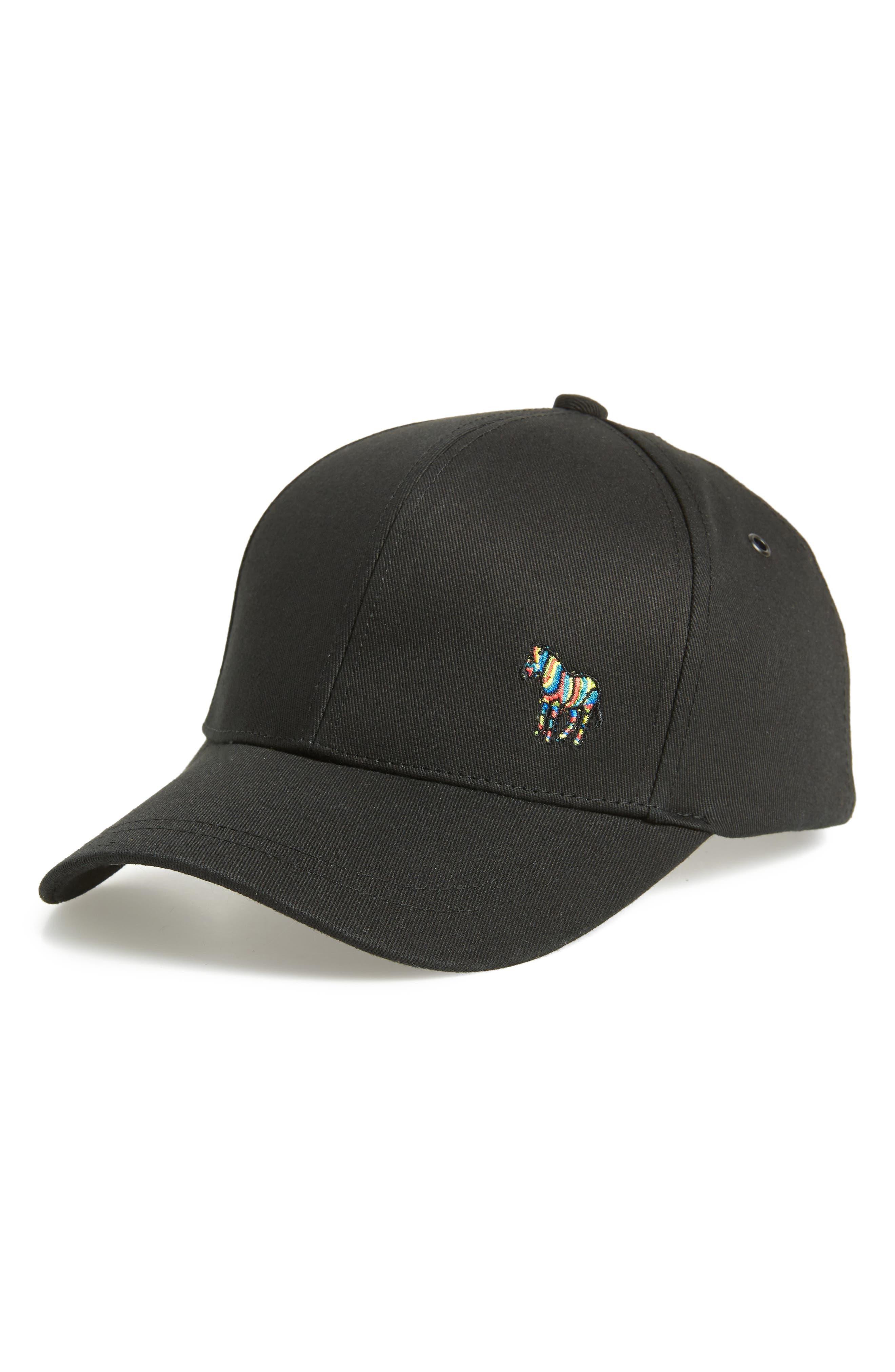 Zebra Logo Ball Cap, Main, color, 001