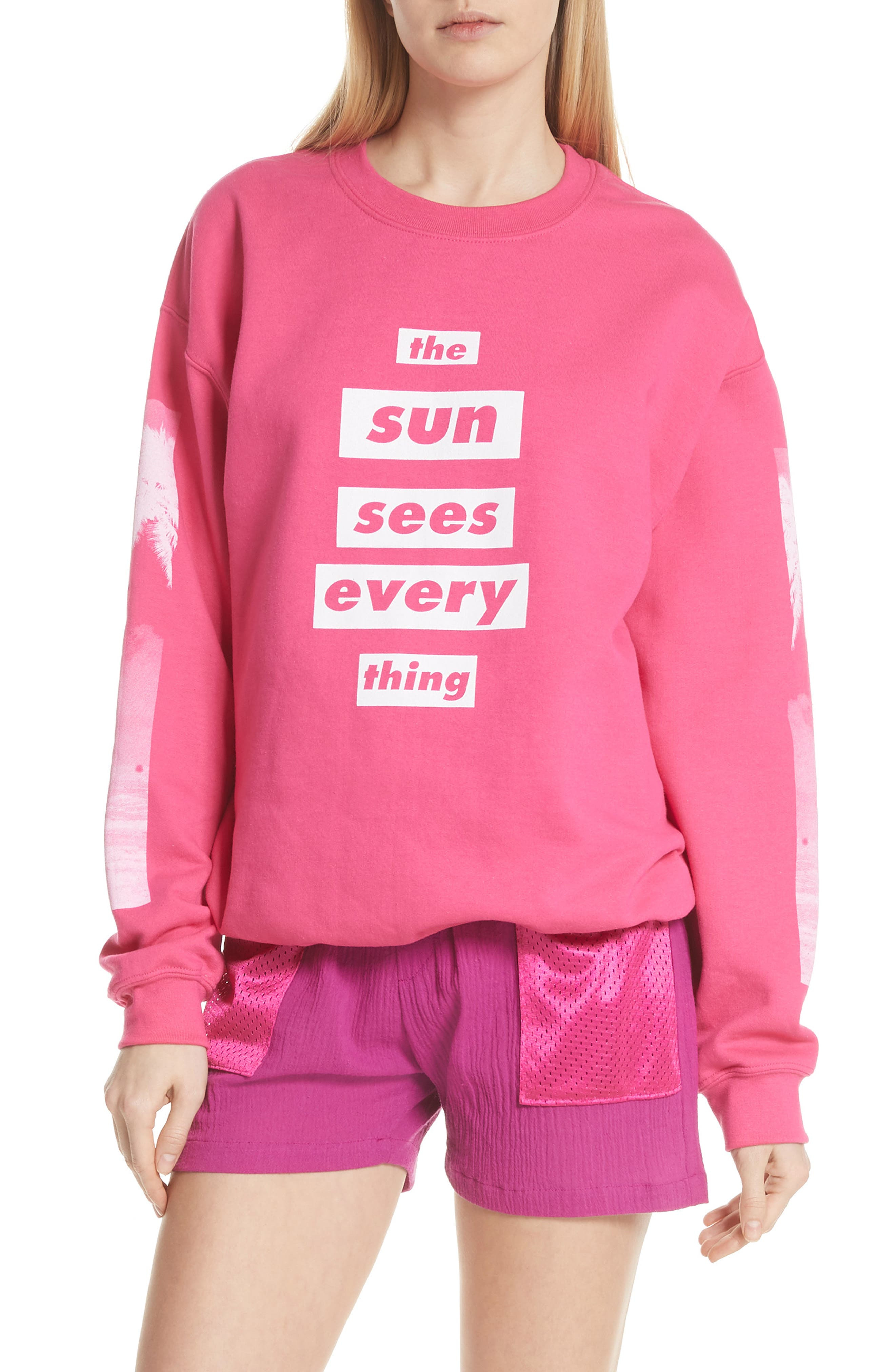 Sun Sees Everything Sweatshirt,                         Main,                         color, 650