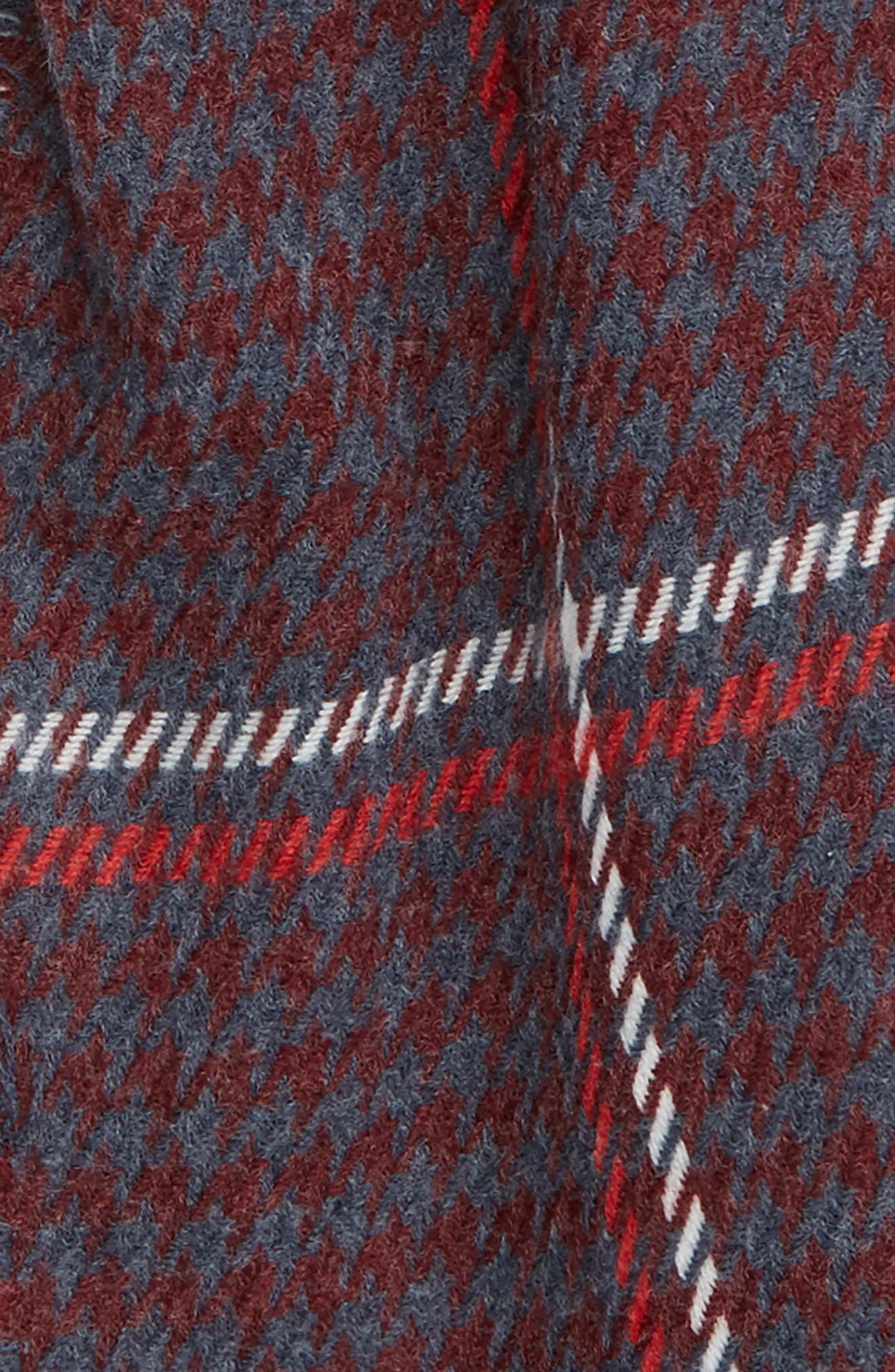 Contrast Houndstooth Scarf,                             Alternate thumbnail 3, color,                             610
