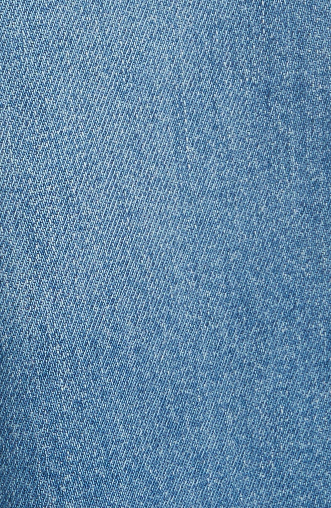 Studded Denim Culottes,                             Alternate thumbnail 5, color,                             400