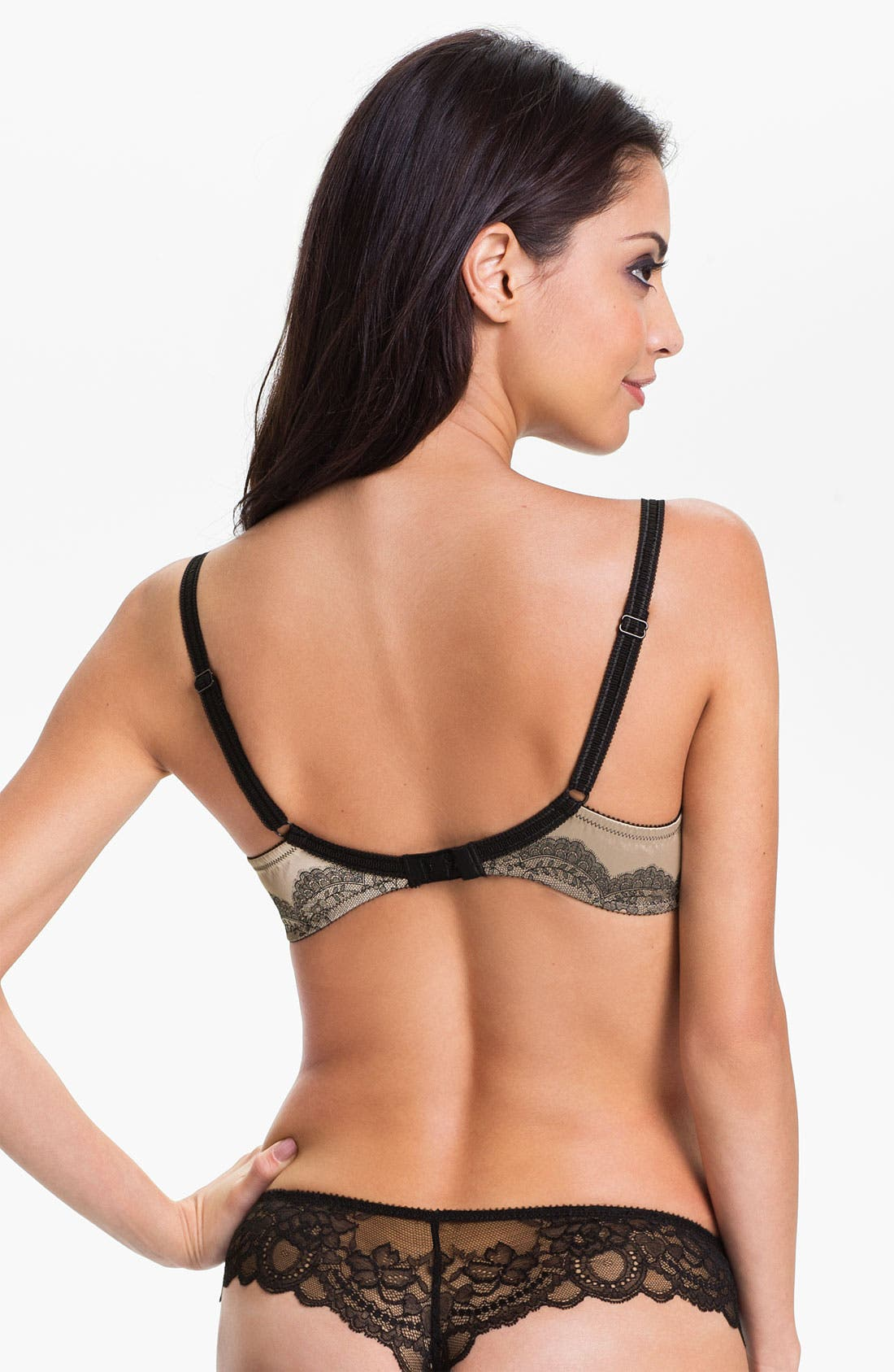'Paris Paris' Underwire Demi Bra,                             Alternate thumbnail 4, color,                             010