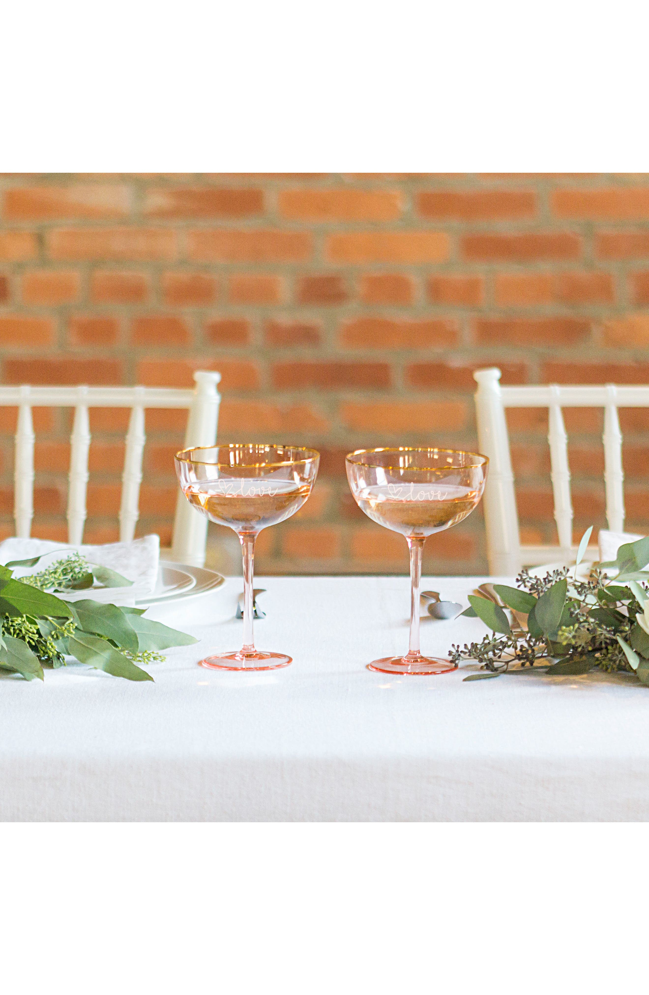 Love Set of 2 Champagne Coupes,                             Alternate thumbnail 8, color,                             220